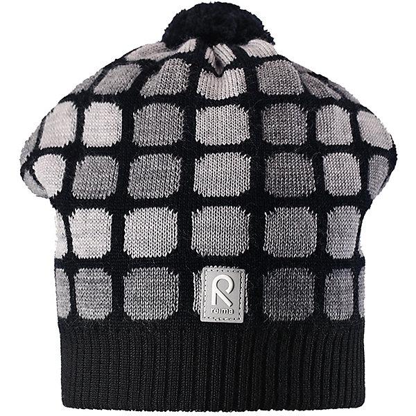 Шапка Reima Kivikko для мальчикаШапки и шарфы<br>Характеристики товара:<br><br>• цвет: черный;<br>• состав: 100% шерсть;<br>• подкладка: 97% хлопок, 3% эластан;<br>• без дополнительного утепления;<br>• сезон: зима;<br>• температурный режим: от 0 до -20С;<br>• мягкая ткань из мериносовой шерсти для поддержания идеальной температуры тела;<br>• ветронепроницаемые вставки в области ушей;<br>• сплошная подкладка: хлопковый трикотаж с эластаном;<br>• шапка с помпоном;<br>• логотип Reima® сзади;<br>• страна бренда: Финляндия;<br>• страна изготовитель: Китай.<br><br>Шапка для малышей и детей постарше изготовлена из дышащей и теплой мериносовой шерсти. Мягкая подкладка из хлопчатобумажного трикотажа гарантирует тепло, а ветронепроницаемые вставки между верхним слоем и подкладкой защищают уши. Помпон на макушке и оригинальный структурный узор.<br><br>Шапку Kivikko для мальчика Reima от финского бренда Reima (Рейма) можно купить в нашем интернет-магазине.<br><br>Ширина мм: 89<br>Глубина мм: 117<br>Высота мм: 44<br>Вес г: 155<br>Цвет: черный<br>Возраст от месяцев: 60<br>Возраст до месяцев: 72<br>Пол: Мужской<br>Возраст: Детский<br>Размер: 52,50,56,54<br>SKU: 6902666