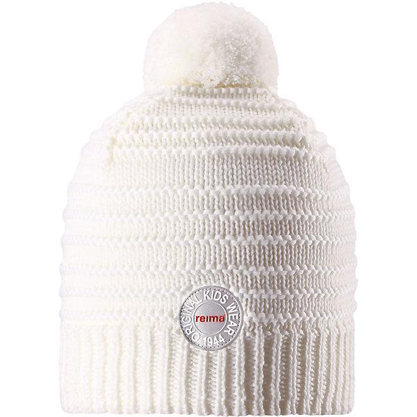 Шапка Reima Hurmos для девочкиШапки и шарфы<br>Характеристики товара:<br><br>• цвет: белый;<br>• состав: 100% шерсть;<br>• подкладка: 97% хлопок, 3% эластан;<br>• утеплитель: 40 г/м2;<br>• сезон: зима;<br>• температурный режим: от 0 до -20С;<br>• мягкая ткань из мериносовой шерсти для поддержания идеальной температуры тела;<br>• ветронепроницаемые вставки в области ушей;<br>• сплошная подкладка: мягкий теплый флис;<br>• шапка с помпоном;<br>• логотип Reima® сзади;<br>• страна бренда: Финляндия;<br>• страна изготовитель: Китай.<br><br>Шапка для малышей и детей постарше изготовлена из дышащей и теплой мериносовой шерсти. Мягкая флисовая подкладка гарантирует тепло, а ветронепроницаемые вставки между верхним слоем и подкладкой защищают уши. Помпон на макушке.<br><br>Шапку Hurmos Reima от финского бренда Reima (Рейма) можно купить в нашем интернет-магазине.<br><br>Ширина мм: 89<br>Глубина мм: 117<br>Высота мм: 44<br>Вес г: 155<br>Цвет: белый<br>Возраст от месяцев: 36<br>Возраст до месяцев: 48<br>Пол: Женский<br>Возраст: Детский<br>Размер: 50,56,54,52<br>SKU: 6902671