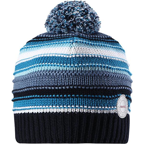 Шапка Reima Hurmos для мальчикаШапки и шарфы<br>Характеристики товара:<br><br>• цвет: синий;<br>• состав: 100% шерсть;<br>• подкладка: 97% хлопок, 3% эластан;<br>• утеплитель: 40 г/м2;<br>• сезон: зима;<br>• температурный режим: от 0 до -20С;<br>• мягкая ткань из мериносовой шерсти для поддержания идеальной температуры тела;<br>• ветронепроницаемые вставки в области ушей;<br>• сплошная подкладка: мягкий теплый флис;<br>• шапка с помпоном;<br>• логотип Reima® сзади;<br>• страна бренда: Финляндия;<br>• страна изготовитель: Китай.<br><br>Шапка для малышей и детей постарше изготовлена из дышащей и теплой мериносовой шерсти. Мягкая флисовая подкладка гарантирует тепло, а ветронепроницаемые вставки между верхним слоем и подкладкой защищают уши. Помпон на макушке.<br><br>Шапку Hurmos Reima от финского бренда Reima (Рейма) можно купить в нашем интернет-магазине.<br>Ширина мм: 89; Глубина мм: 117; Высота мм: 44; Вес г: 155; Цвет: синий; Возраст от месяцев: 60; Возраст до месяцев: 72; Пол: Мужской; Возраст: Детский; Размер: 52,54,56,50; SKU: 6902681;