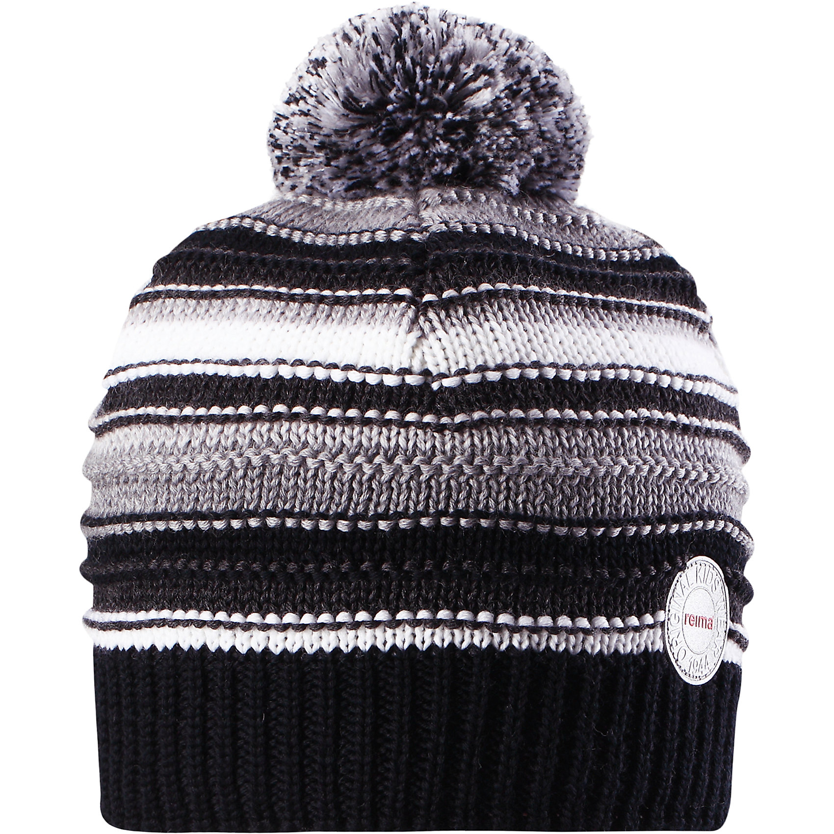 Шапка Reima HurmosГоловные уборы<br>Характеристики товара:<br><br>• цвет: черный;<br>• состав: 100% шерсть;<br>• подкладка: 97% хлопок, 3% эластан;<br>• утеплитель: 40 г/м2;<br>• сезон: зима;<br>• температурный режим: от 0 до -20С;<br>• мягкая ткань из мериносовой шерсти для поддержания идеальной температуры тела;<br>• ветронепроницаемые вставки в области ушей;<br>• сплошная подкладка: мягкий теплый флис;<br>• шапка с помпоном;<br>• логотип Reima® сзади;<br>• страна бренда: Финляндия;<br>• страна изготовитель: Китай.<br><br>Шапка для малышей и детей постарше изготовлена из дышащей и теплой мериносовой шерсти. Мягкая флисовая подкладка гарантирует тепло, а ветронепроницаемые вставки между верхним слоем и подкладкой защищают уши. Помпон на макушке.<br><br>Шапку Hurmos Reima от финского бренда Reima (Рейма) можно купить в нашем интернет-магазине.<br><br>Ширина мм: 89<br>Глубина мм: 117<br>Высота мм: 44<br>Вес г: 155<br>Цвет: серый<br>Возраст от месяцев: 36<br>Возраст до месяцев: 48<br>Пол: Унисекс<br>Возраст: Детский<br>Размер: 50,56,52,54<br>SKU: 6902696