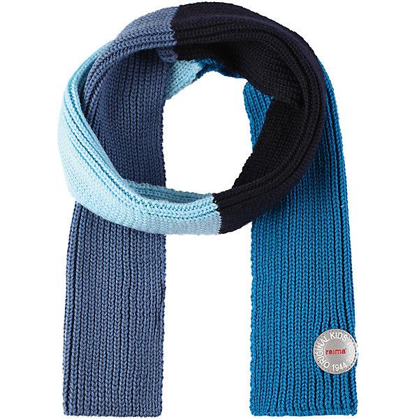 Шарф Reima Kesy для мальчикаШапки и шарфы<br>Характеристики товара:<br><br>• цвет: синий;<br>• состав: 100% шерсть;<br>• сезон: зима;<br>• температурный режим: от 0 до -20С;<br>• мягкая ткань из мериносовой шерсти для поддержания идеальной температуры тела;<br>• светоотражающий логотип Reima®;<br>• страна бренда: Финляндия;<br>• страна изготовитель: Китай.<br><br>Детский зимний шарф изготовлен из мягкой и теплой мериносовой шерсти. Эластичный и дышащий материал обеспечивает хорошую терморегуляцию. Снабжен светоотражающей эмблемой Reima.<br><br>Шарф Kesy Reima от финского бренда Reima (Рейма) можно купить в нашем интернет-магазине.<br><br>Ширина мм: 88<br>Глубина мм: 155<br>Высота мм: 26<br>Вес г: 106<br>Цвет: синий<br>Возраст от месяцев: 48<br>Возраст до месяцев: 168<br>Пол: Мужской<br>Возраст: Детский<br>Размер: one size<br>SKU: 6902703