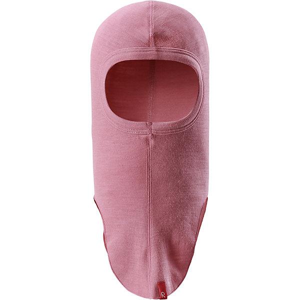 Шапка-шлем Reima Aurora для девочкиШапки и шарфы<br>Характеристики товара:<br><br>• цвет: розовая;<br>• состав: 80% шерсть, 20% полиамид;<br>• сезон: демисезон;<br>• особенности: шерстяная;<br>• шапка-шлем базового слоя;<br>• шерсть идеально поддерживает температуру;<br>• легкий стиль, без подкладки;<br>• логотип Reima® сбоку;<br>• страна бренда: Финляндия;<br>• страна производства: Китай.<br><br>Шерстяная шапка-шлем для подростков отлично регулирует температуру. Эта удобная шапка-шлем хорошо защищает лоб, щеки и шею. Она сшита из мягкого и теплого полушерстяного трикотажа. <br><br>Облегченная модель без подкладки очень практична: ее можно надевать под шапку или шлем для дополнительной защиты или утепления. Ее также можно поднять, чтобы закрыть лицо.<br><br>Шапку-шлем Aurora Reima можно купить в нашем интернет-магазине.<br>Ширина мм: 89; Глубина мм: 117; Высота мм: 44; Вес г: 155; Цвет: розовый; Возраст от месяцев: 72; Возраст до месяцев: 84; Пол: Женский; Возраст: Детский; Размер: 54-56,46-48,50-52; SKU: 6902713;