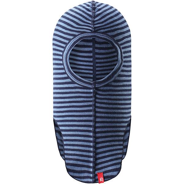 Шапка-шлем Reima Aurora для мальчикаГоловные уборы<br>Характеристики товара:<br><br>• цвет: голубой;<br>• состав: 80% шерсть, 20% полиамид;<br>• сезон: демисезон, в полоску;<br>• особенности: шерстяная;<br>• шапка-шлем базового слоя;<br>• шерсть идеально поддерживает температуру;<br>• легкий стиль, без подкладки;<br>• логотип Reima® сбоку;<br>• страна бренда: Финляндия;<br>• страна производства: Китай.<br><br>Шерстяная шапка-шлем для подростков отлично регулирует температуру. Эта удобная шапка-шлем хорошо защищает лоб, щеки и шею. Она сшита из мягкого и теплого полушерстяного трикотажа. <br><br>Облегченная модель без подкладки очень практична: ее можно надевать под шапку или шлем для дополнительной защиты или утепления. Ее также можно поднять, чтобы закрыть лицо.<br><br>Шапку-шлем Aurora Reima можно купить в нашем интернет-магазине.<br><br>Ширина мм: 89<br>Глубина мм: 117<br>Высота мм: 44<br>Вес г: 155<br>Цвет: синий<br>Возраст от месяцев: 9<br>Возраст до месяцев: 12<br>Пол: Мужской<br>Возраст: Детский<br>Размер: 46-48,54-56,50-52<br>SKU: 6902721