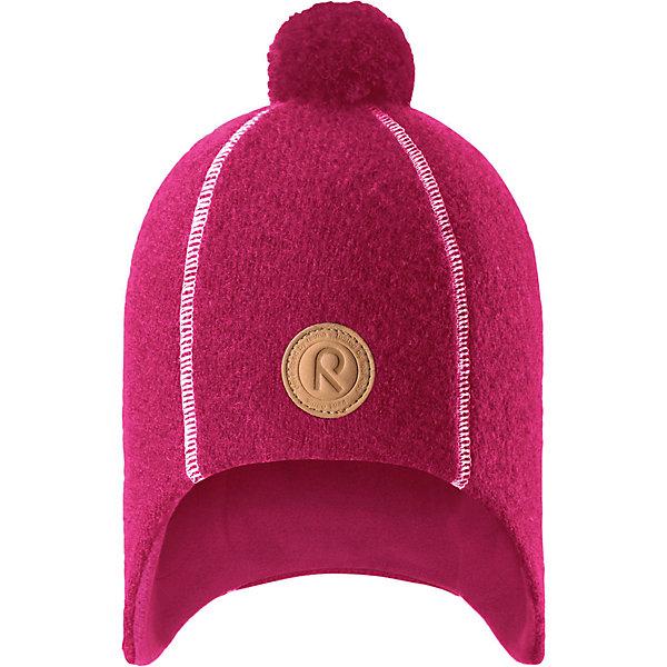 Шапка Reima Reipas для девочкиГоловные уборы<br>Характеристики товара:<br><br>• цвет: розовый;<br>• состав: 100% шерсть;<br>• подкладка: 100% полиэстер, флис;<br>• без дополнительного утепления;<br>• сезон: зима;<br>• температурный режим: от 0 до -20С;<br>• шерсть идеально поддерживает температуру;<br>• ветронепроницаемые вставки в области ушей;<br>• сплошная подкладка: мягкий теплый флис;<br>• теплая шерстяная вязка (волокно);<br>• шапка с помпоном;<br>• логотип Reima® спереди;<br>• страна бренда: Финляндия;<br>• страна изготовитель: Китай.<br><br>Детская невероятно теплая шерстяная шапка отлично согреет на прогулке в морозный зимний день! Шапка, подшитая мягким и теплым флисом из полиэстера, обеспечит ребенку тепло и сухость во время активных игр на свежем воздухе, а интересная фетровая структура и веселый помпон на макушке придают этой забавной модели завершающий штрих. Эта модель хорошо закрывает и защищает лоб и ушки, а ветронепроницаемые вставки в области ушей обеспечивают дополнительную защиту от пронизывающего ветра.<br><br>Шапку Reipas Reima от финского бренда Reima (Рейма) можно купить в нашем интернет-магазине.<br><br>Ширина мм: 89<br>Глубина мм: 117<br>Высота мм: 44<br>Вес г: 155<br>Цвет: розовый<br>Возраст от месяцев: 36<br>Возраст до месяцев: 48<br>Пол: Женский<br>Возраст: Детский<br>Размер: 50,56,54,52<br>SKU: 6902748