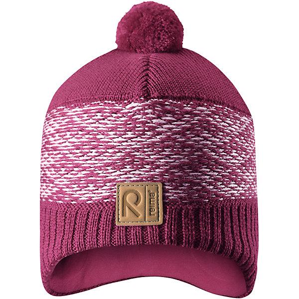 Шапка Reima TuliГоловные уборы<br>Характеристики товара:<br><br>• цвет: розовый;<br>• состав: 50% шерсть, 50% полиакрил;<br>• подкладка: 100% полиэстер, флис;<br>• без дополнительного утепления;<br>• сезон: зима;<br>• температурный режим: от 0 до -20С;<br>• шерсть идеально поддерживает температуру;<br>• ветронепроницаемые вставки в области ушей;<br>• сплошная подкладка: мягкий теплый флис;<br>• мягкая и теплая ткань из смеси шерсти;<br>• шапка с помпоном;<br>• логотип Reima® спереди;<br>• страна бренда: Финляндия;<br>• страна изготовитель: Китай.<br><br>Детская шапка из теплого шерстяного трикотажа. Материал превосходно регулирует температуру и хорошо согревает голову. Ветронепроницаемые вставки и подкладка из мягкого флиса. Декоративный вязаный узор и помпон на макушке довершают образ.<br><br>Шапку Tuli Reima от финского бренда Reima (Рейма) можно купить в нашем интернет-магазине.<br><br>Ширина мм: 89<br>Глубина мм: 117<br>Высота мм: 44<br>Вес г: 155<br>Цвет: розовый<br>Возраст от месяцев: 36<br>Возраст до месяцев: 48<br>Пол: Унисекс<br>Возраст: Детский<br>Размер: 50,56,54,52<br>SKU: 6902773