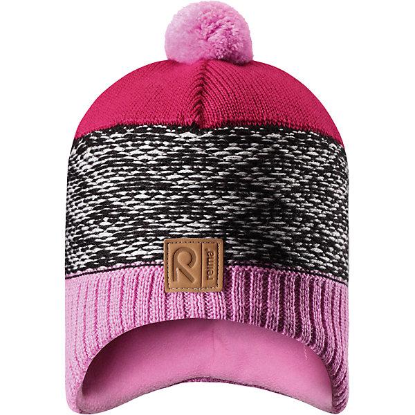 Шапка Reima TuliШапки и шарфы<br>Характеристики товара:<br><br>• цвет: розовый;<br>• состав: 50% шерсть, 50% полиакрил;<br>• подкладка: 100% полиэстер, флис;<br>• без дополнительного утепления;<br>• сезон: зима;<br>• температурный режим: от 0 до -20С;<br>• шерсть идеально поддерживает температуру;<br>• ветронепроницаемые вставки в области ушей;<br>• сплошная подкладка: мягкий теплый флис;<br>• мягкая и теплая ткань из смеси шерсти;<br>• шапка с помпоном;<br>• логотип Reima® спереди;<br>• страна бренда: Финляндия;<br>• страна изготовитель: Китай.<br><br>Детская шапка из теплого шерстяного трикотажа. Материал превосходно регулирует температуру и хорошо согревает голову. Ветронепроницаемые вставки и подкладка из мягкого флиса. Декоративный вязаный узор и помпон на макушке довершают образ.<br><br>Шапку Tuli Reima от финского бренда Reima (Рейма) можно купить в нашем интернет-магазине.<br>Ширина мм: 89; Глубина мм: 117; Высота мм: 44; Вес г: 155; Цвет: розовый; Возраст от месяцев: 36; Возраст до месяцев: 48; Пол: Унисекс; Возраст: Детский; Размер: 52,50,56,54; SKU: 6902778;