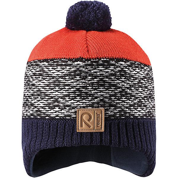 Шапка Reima Tuli для мальчикаШапки и шарфы<br>Характеристики товара:<br><br>• цвет: синий;<br>• состав: 50% шерсть, 50% полиакрил;<br>• подкладка: 100% полиэстер, флис;<br>• без дополнительного утепления;<br>• сезон: зима;<br>• температурный режим: от 0 до -20С;<br>• шерсть идеально поддерживает температуру;<br>• ветронепроницаемые вставки в области ушей;<br>• сплошная подкладка: мягкий теплый флис;<br>• мягкая и теплая ткань из смеси шерсти;<br>• шапка с помпоном;<br>• логотип Reima® спереди;<br>• страна бренда: Финляндия;<br>• страна изготовитель: Китай.<br><br>Детская шапка из теплого шерстяного трикотажа. Материал превосходно регулирует температуру и хорошо согревает голову. Ветронепроницаемые вставки и подкладка из мягкого флиса. Декоративный вязаный узор и помпон на макушке довершают образ.<br><br>Шапку Tuli Reima от финского бренда Reima (Рейма) можно купить в нашем интернет-магазине.<br><br>Ширина мм: 89<br>Глубина мм: 117<br>Высота мм: 44<br>Вес г: 155<br>Цвет: синий<br>Возраст от месяцев: 36<br>Возраст до месяцев: 48<br>Пол: Мужской<br>Возраст: Детский<br>Размер: 50,54,56,52<br>SKU: 6902788