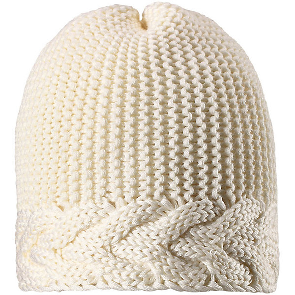 Шапка Reima Pihla для девочкиШапки и шарфы<br>Характеристики товара:<br><br>• цвет: белый;<br>• состав: 50% шерсть, 50% полиакрил;<br>• подкладка: 100% полиэстер, флис;<br>• без дополнительного утепления;<br>• сезон: зима;<br>• температурный режим: от 0 до -20С;<br>• шерсть идеально поддерживает температуру;<br>• ветронепроницаемые вставки в области ушей;<br>• сплошная подкладка: мягкий теплый флис;<br>• мягкая и теплая ткань из смеси шерсти;<br>• логотип Reima® сзади;<br>• страна бренда: Финляндия;<br>• страна изготовитель: Китай.<br><br>Детская шапка из теплого полушерстяного трикотажа. Шерсть – превосходный терморегулятор. Ветронепроницаемые вставки и подкладка из мягкого и дышащего флиса. Декоративный структурный узор дополняет образ.<br><br>Шапку Pihla для девочки Reima от финского бренда Reima (Рейма) можно купить в нашем интернет-магазине.<br>Ширина мм: 89; Глубина мм: 117; Высота мм: 44; Вес г: 155; Цвет: белый; Возраст от месяцев: 36; Возраст до месяцев: 48; Пол: Женский; Возраст: Детский; Размер: 50,56,54,52; SKU: 6902793;