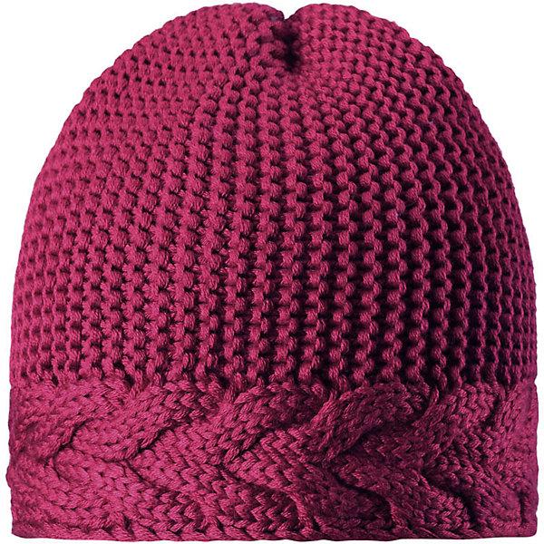 Шапка Reima Pihla для девочкиШапки и шарфы<br>Характеристики товара:<br><br>• цвет: фуксия;<br>• состав: 50% шерсть, 50% полиакрил;<br>• подкладка: 100% полиэстер, флис;<br>• без дополнительного утепления;<br>• сезон: зима;<br>• температурный режим: от 0 до -20С;<br>• шерсть идеально поддерживает температуру;<br>• ветронепроницаемые вставки в области ушей;<br>• сплошная подкладка: мягкий теплый флис;<br>• мягкая и теплая ткань из смеси шерсти;<br>• логотип Reima® сзади;<br>• страна бренда: Финляндия;<br>• страна изготовитель: Китай.<br><br>Детская шапка из теплого полушерстяного трикотажа. Шерсть – превосходный терморегулятор. Ветронепроницаемые вставки и подкладка из мягкого и дышащего флиса. Декоративный структурный узор дополняет образ.<br><br>Шапку Pihla для девочки Reima от финского бренда Reima (Рейма) можно купить в нашем интернет-магазине.<br>Ширина мм: 89; Глубина мм: 117; Высота мм: 44; Вес г: 155; Цвет: розовый; Возраст от месяцев: 36; Возраст до месяцев: 48; Пол: Женский; Возраст: Детский; Размер: 50,56,54,52; SKU: 6902798;