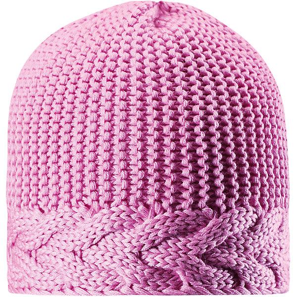 Шапка Reima Pihla для девочкиШапки и шарфы<br>Характеристики товара:<br><br>• цвет: светло-розовый;<br>• состав: 50% шерсть, 50% полиакрил;<br>• подкладка: 100% полиэстер, флис;<br>• без дополнительного утепления;<br>• сезон: зима;<br>• температурный режим: от 0 до -20С;<br>• шерсть идеально поддерживает температуру;<br>• ветронепроницаемые вставки в области ушей;<br>• сплошная подкладка: мягкий теплый флис;<br>• мягкая и теплая ткань из смеси шерсти;<br>• логотип Reima® сзади;<br>• страна бренда: Финляндия;<br>• страна изготовитель: Китай.<br><br>Детская шапка из теплого полушерстяного трикотажа. Шерсть – превосходный терморегулятор. Ветронепроницаемые вставки и подкладка из мягкого и дышащего флиса. Декоративный структурный узор дополняет образ.<br><br>Шапку Pihla для девочки Reima от финского бренда Reima (Рейма) можно купить в нашем интернет-магазине.<br><br>Ширина мм: 89<br>Глубина мм: 117<br>Высота мм: 44<br>Вес г: 155<br>Цвет: розовый<br>Возраст от месяцев: 84<br>Возраст до месяцев: 144<br>Пол: Женский<br>Возраст: Детский<br>Размер: 56,50,52,54<br>SKU: 6902803