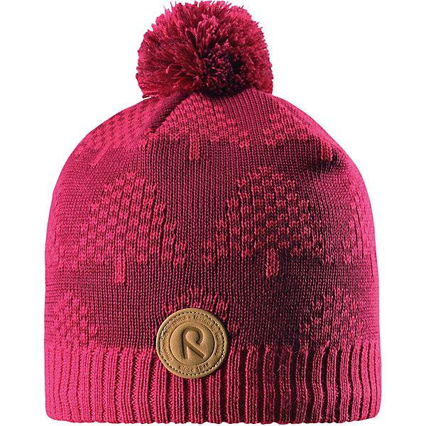 Шапка Reima KajaaniШапки и шарфы<br>Характеристики товара:<br><br>• цвет: розовый;<br>• состав: 50% шерсть, 50% полиакрил;<br>• подкладка: 100% полиэстер, флис;<br>• без дополнительного утепления;<br>• сезон: зима;<br>• температурный режим: от 0 до -20С;<br>• шерсть идеально поддерживает температуру;<br>• ветронепроницаемые вставки в области ушей;<br>• сплошная подкладка: мягкий теплый флис;<br>• мягкая и теплая ткань из смеси шерсти;<br>• шапка с помпоном;<br>• логотип Reima® спереди;<br>• страна бренда: Финляндия;<br>• страна изготовитель: Китай.<br><br>Детская шапка из теплого шерстяного трикотажа. Материал превосходно регулирует температуру и хорошо согревает голову. Ветронепроницаемые вставки и подкладка из мягкого флиса. Декоративная структурная вязка.<br><br>Шапку Kajaani Reima от финского бренда Reima (Рейма) можно купить в нашем интернет-магазине.<br>Ширина мм: 89; Глубина мм: 117; Высота мм: 44; Вес г: 155; Цвет: розовый; Возраст от месяцев: 84; Возраст до месяцев: 144; Пол: Унисекс; Возраст: Детский; Размер: 56,54,52,50; SKU: 6902813;