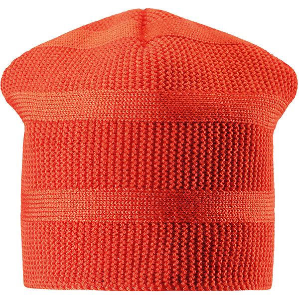 Шапка Reima Pettu для мальчикаШапки и шарфы<br>Характеристики товара:<br><br>• цвет: оранжевый;<br>• состав: 50% шерсть, 50% полиакрил;<br>• подкладка: 100% полиэстер, флис;<br>• без дополнительного утепления;<br>• сезон: зима;<br>• температурный режим: от 0 до -20С;<br>• шерсть идеально поддерживает температуру;<br>• ветронепроницаемые вставки в области ушей;<br>• сплошная подкладка: мягкий теплый флис;<br>• мягкая и теплая ткань из смеси шерсти;<br>• логотип Reima® сзади;<br>• страна бренда: Финляндия;<br>• страна изготовитель: Китай.<br><br>Детская шапка из теплого полушерстяного трикотажа. Шерсть – превосходный терморегулятор. Ветронепроницаемые вставки и подкладка из мягкого и дышащего флиса. Оригинальный структурный узор дополняет образ.<br><br>Шапку Pettu для мальчика Reima от финского бренда Reima (Рейма) можно купить в нашем интернет-магазине.<br>Ширина мм: 89; Глубина мм: 117; Высота мм: 44; Вес г: 155; Цвет: красный; Возраст от месяцев: 72; Возраст до месяцев: 84; Пол: Мужской; Возраст: Детский; Размер: 54,52,50,56; SKU: 6902828;
