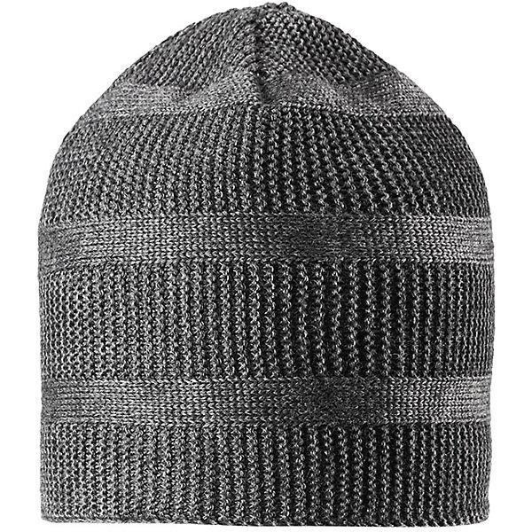 Шапка Reima Pettu для мальчикаШапки и шарфы<br>Характеристики товара:<br><br>• цвет: серый;<br>• состав: 50% шерсть, 50% полиакрил;<br>• подкладка: 100% полиэстер, флис;<br>• без дополнительного утепления;<br>• сезон: зима;<br>• температурный режим: от 0 до -20С;<br>• шерсть идеально поддерживает температуру;<br>• ветронепроницаемые вставки в области ушей;<br>• сплошная подкладка: мягкий теплый флис;<br>• мягкая и теплая ткань из смеси шерсти;<br>• логотип Reima® сзади;<br>• страна бренда: Финляндия;<br>• страна изготовитель: Китай.<br><br>Детская шапка из теплого полушерстяного трикотажа. Шерсть – превосходный терморегулятор. Ветронепроницаемые вставки и подкладка из мягкого и дышащего флиса. Оригинальный структурный узор дополняет образ.<br><br>Шапку Pettu для мальчика Reima от финского бренда Reima (Рейма) можно купить в нашем интернет-магазине.<br>Ширина мм: 89; Глубина мм: 117; Высота мм: 44; Вес г: 155; Цвет: серый; Возраст от месяцев: 36; Возраст до месяцев: 48; Пол: Мужской; Возраст: Детский; Размер: 50,56,54,52; SKU: 6902838;