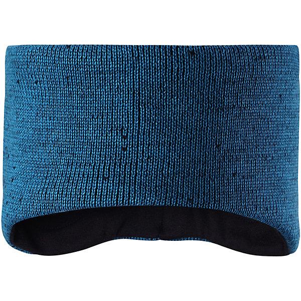 Повязка на голову Reima Tammi для мальчикаШапки и шарфы<br>Характеристики товара:<br><br>• цвет: синий;<br>• состав: 100% шерсть;<br>• подкладка: 100% полиэстер, флис;<br>• без дополнительного утепления;<br>• сезон: зима;<br>• температурный режим: от 0 до -20С;<br>• шерсть идеально поддерживает температуру;<br>• ветронепроницаемые вставки в области ушей;<br>• сплошная подкладка: мягкий теплый флис;<br>• мягкая ткань из мериносовой шерсти для поддержания идеальной температуры тела;<br>• логотип Reima® сзади;<br>• страна бренда: Финляндия;<br>• страна изготовитель: Китай.<br><br>Стильная и теплая детская повязка станет отличным вариантом на ветреный осенний день – когда в шапке ходить еще слишком жарко. Она изготовлена из мягкой и теплой мериносовой пряжи с мягкой флисовой подкладкой изнутри, так что лоб будет надежно защищен. Ушки тоже останутся в тепле благодаря ветронепроницаемым вставкам. Оригинальный структурный узор легко сочетается с любым нарядом!<br><br>Повязку на голову Tammi Reima от финского бренда Reima (Рейма) можно купить в нашем интернет-магазине.<br>Ширина мм: 89; Глубина мм: 117; Высота мм: 44; Вес г: 155; Цвет: синий; Возраст от месяцев: 36; Возраст до месяцев: 48; Пол: Мужской; Возраст: Детский; Размер: 50-52,54-56; SKU: 6902846;
