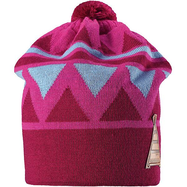 Шапка Reima Latsa для девочкиГоловные уборы<br>Характеристики товара:<br><br>• цвет: розовый;<br>• состав: 50% шерсть, 50% полиакрил;<br>• подкладка: 100% хлопок;<br>• без дополнительного утепления;<br>• сезон: зима;<br>• температурный режим: от 0 до -20С;<br>• шерсть идеально поддерживает температуру;<br>• ветронепроницаемые вставки в области ушей;<br>• частичная подкладка: мягкий вязаный хлопок;<br>• мягкая и теплая ткань из смеси шерсти;<br>• шапка с помпоном;<br>• логотип Reima® сбоку;<br>• страна бренда: Финляндия;<br>• страна изготовитель: Китай.<br><br>Детская шапка из теплого шерстяного трикотажа. Материал превосходно регулирует температуру и хорошо согревает голову. Ветронепроницаемые вставки и полуподкладка из мягкого и дышащего вязаного хлопка. Сплошная жаккардовая узорная вязка. Помпон на макушке довершает образ!<br><br>Шапку Latsa Reima от финского бренда Reima (Рейма) можно купить в нашем интернет-магазине.<br><br>Ширина мм: 89<br>Глубина мм: 117<br>Высота мм: 44<br>Вес г: 155<br>Цвет: розовый<br>Возраст от месяцев: 72<br>Возраст до месяцев: 84<br>Пол: Женский<br>Возраст: Детский<br>Размер: 54-56,50-52<br>SKU: 6902849