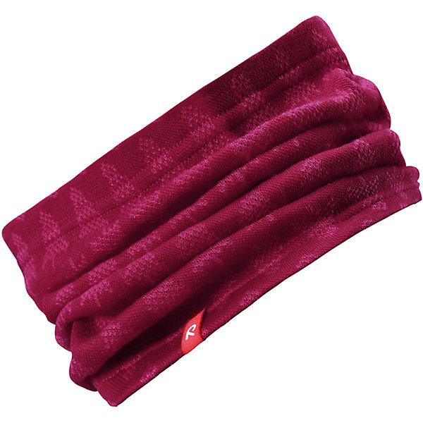 Шарф-хомут Reima Ellivaara для девочкиШарфы, платки<br>Характеристики товара:<br><br>• цвет: розовый;<br>• состав: 80% шерсть, 20% полиакрил;<br>• без дополнительного утепления;<br>• сезон: зима;<br>• температурный режим: от 0 до -20С;<br>• шерсть идеально поддерживает температуру;<br>• мягкий, теплый и приятный на ощупь трикотаж;<br>• легкий стиль, без подкладки;<br>• логотип Reima® сбоку;<br>• страна бренда: Финляндия;<br>• страна изготовитель: Китай.<br><br>Детская горловина, или шарф-хомут, очень удобна – просто наденьте ее на шею, и прогулка будет теплой и приятной. Шерсть – превосходный терморегулятор. Этот шарф-хомут связан из мягкой, теплой и приятной на ощупь пряжи. Универсальный шарф можно надевать на голову как повязку для защиты волос и ушей или даже носить как шапку.<br><br>Шарф Ellivaara Reima от финского бренда Reima (Рейма) можно купить в нашем интернет-магазине.<br><br>Ширина мм: 88<br>Глубина мм: 155<br>Высота мм: 26<br>Вес г: 106<br>Цвет: розовый<br>Возраст от месяцев: 9<br>Возраст до месяцев: 12<br>Пол: Женский<br>Возраст: Детский<br>Размер: 46/48,54/56,50/52<br>SKU: 6902858