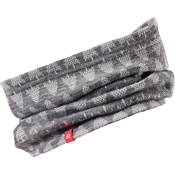 Шарф-хомут Reima EllivaaraВерхняя одежда<br>Характеристики товара:<br><br>• цвет: серый;<br>• состав: 80% шерсть, 20% полиакрил;<br>• без дополнительного утепления;<br>• сезон: зима;<br>• температурный режим: от 0 до -20С;<br>• шерсть идеально поддерживает температуру;<br>• мягкий, теплый и приятный на ощупь трикотаж;<br>• легкий стиль, без подкладки;<br>• логотип Reima® сбоку;<br>• страна бренда: Финляндия;<br>• страна изготовитель: Китай.<br><br>Детская горловина, или шарф-хомут, очень удобна – просто наденьте ее на шею, и прогулка будет теплой и приятной. Шерсть – превосходный терморегулятор. Этот шарф-хомут связан из мягкой, теплой и приятной на ощупь пряжи. Универсальный шарф можно надевать на голову как повязку для защиты волос и ушей или даже носить как шапку.<br><br>Шарф Ellivaara Reima от финского бренда Reima (Рейма) можно купить в нашем интернет-магазине.<br><br>Ширина мм: 88<br>Глубина мм: 155<br>Высота мм: 26<br>Вес г: 106<br>Цвет: серый<br>Возраст от месяцев: 9<br>Возраст до месяцев: 12<br>Пол: Унисекс<br>Возраст: Детский<br>Размер: 46/48,54/56,50/52<br>SKU: 6902866