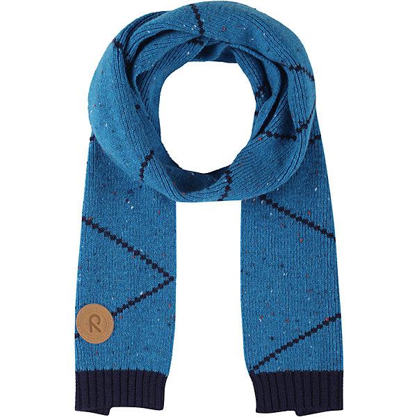 Шарф Reima PetsamoВерхняя одежда<br>Характеристики товара:<br><br>• цвет: синий;<br>• состав: 50% шерсть, 50% полиакрил;<br>• без дополнительного утепления;<br>• сезон: зима;<br>• температурный режим: от 0 до -20С;<br>• особенности: с рисунком, вязаный;<br>• страна бренда: Финляндия;<br>• страна изготовитель: Китай.<br><br>Вязаный шарф Reima. Зимний шарф очень теплый, декорирован полосками.<br><br><br>Шарф Reima Petsamo (Рейма) можно купить в нашем интернет-магазине.<br><br>Ширина мм: 88<br>Глубина мм: 155<br>Высота мм: 26<br>Вес г: 106<br>Цвет: синий<br>Возраст от месяцев: 48<br>Возраст до месяцев: 168<br>Пол: Унисекс<br>Возраст: Детский<br>Размер: one size<br>SKU: 6902882