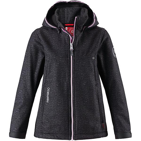 Куртка Reima Cornise для девочкиОдежда<br>Характеристики товара:<br><br>• цвет: черный;<br>• состав: 95% полиэстер, 5% эластан;<br>• подкладка: 100% полиэстер, флис<br>• без дополнительного утепления;<br>• сезон: демисезон;<br>• температурный режим: от 0 до +15С;<br>• водонепроницаемость: 10000 мм;<br>• воздухопроницаемость: 50000 мм;<br>• куртка из материала softshell;<br>• из ветронепроницаемого материала, но изделие дышит;<br>• водоотталкивающий, ветронепроницаемый и дышащий материал;<br>• флис на оборотной стороне;<br>• безопасный, съемный капюшон;<br>• эластичная резинка на кромке капюшона;<br>• регулируемые манжеты на липучке;<br>• регулируемый обхват талии;<br>• два кармана на молнии;<br>• карман с креплением для сенсора ReimaGO®;<br>• светоотражающие детали;<br>• страна бренда: Финляндия;<br>• страна изготовитель: Китай.<br><br>Демисезонная куртка для детей и подростков изготовлена из функционального материала softshell –водоотталкивающего, ветронепроницаемого, и в то же время дышащего. Многослойный материал имеет мягкую флисовую изнанку. Регулируемая талия позволяет отрегулировать эту приталенную модель по фигуре, а регулируемые манжеты снабжены застежками на липучке. <br><br>В этой куртке предусмотрено множество практичных деталей: безопасный съемный капюшон с эластичной резинкой по краю, карманы на молнии и светоотражающие элементы – отличный выбор, куда бы вы не пошли. Сенсор ReimaGO будет надежно закреплен на месте благодаря специальным кнопкам.<br><br>Куртку Cornise для девочки Reima от финского бренда Reima (Рейма) можно купить в нашем интернет-магазине.<br>Ширина мм: 356; Глубина мм: 10; Высота мм: 245; Вес г: 519; Цвет: серый; Возраст от месяцев: 132; Возраст до месяцев: 144; Пол: Женский; Возраст: Детский; Размер: 152,164,158,146,140,134,128,122,116,110,104; SKU: 6902896;