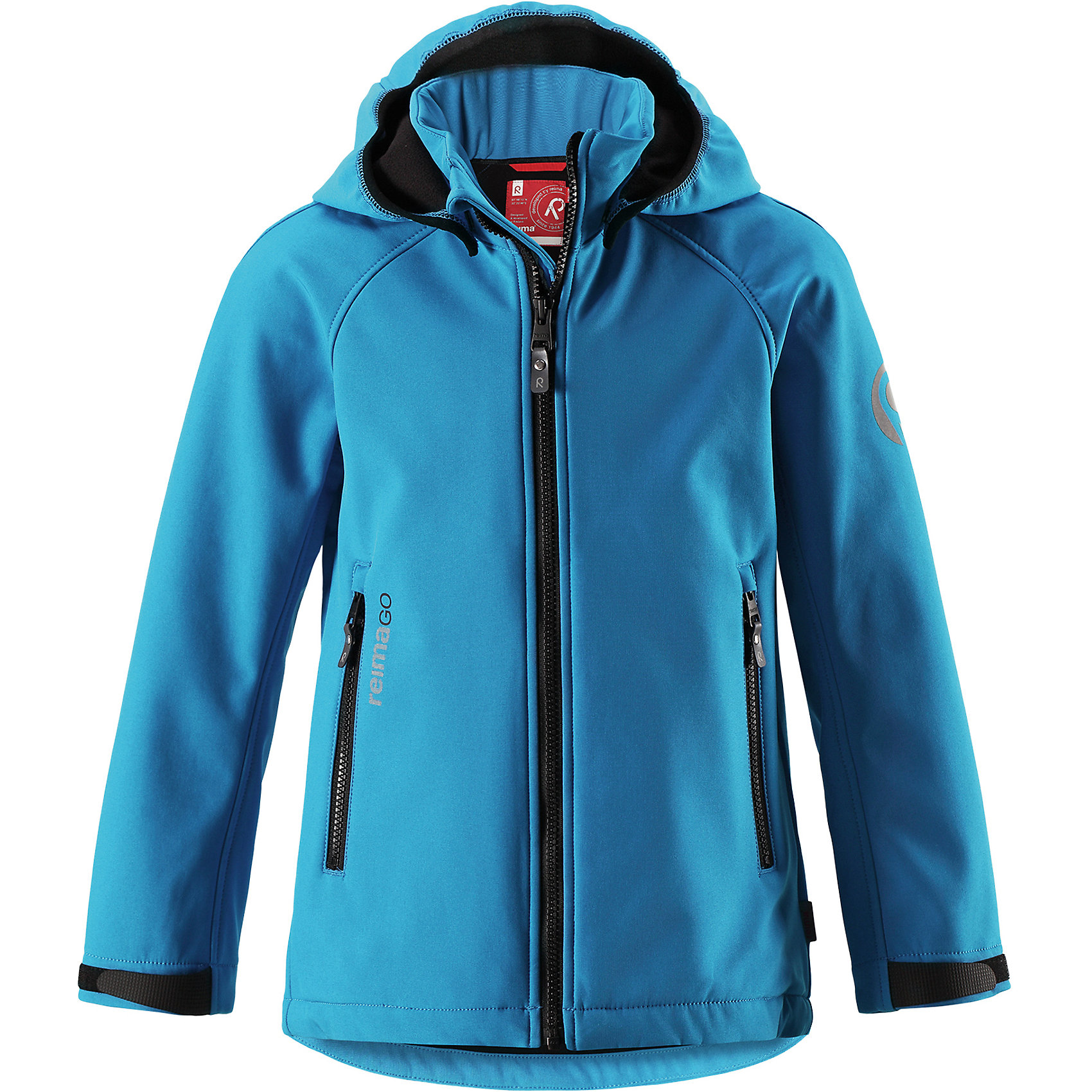 Куртка Zayak Reima для мальчикаФлис и термобелье<br>Демисезонная куртка для детей и подростков изготовлена из функционального материала softshell – водоотталкивающего, ветронепроницаемого, и в то же время дышащего. Многослойный материал имеет мягкую флисовую изнанку. Регулируемая талия позволяет отрегулировать эту модель прямого кроя по фигуре, а регулируемые манжеты снабжены застежками на липучке. <br><br>В этой куртке предусмотрено множество практичных деталей: безопасный съемный капюшон м эластичной резинкой по краю, карманы на молнии и светоотражающие элементы – отличный выбор, куда бы вы не пошли. Сенсор ReimaGO будет надежно закреплен на месте благодаря специальным кнопкам.<br>Состав:<br>95% Полиэстер 5% Эластан<br><br>Ширина мм: 356<br>Глубина мм: 10<br>Высота мм: 245<br>Вес г: 519<br>Цвет: синий<br>Возраст от месяцев: 156<br>Возраст до месяцев: 168<br>Пол: Мужской<br>Возраст: Детский<br>Размер: 158,164,146,104,110,152,116,122,128,134,140<br>SKU: 6902908