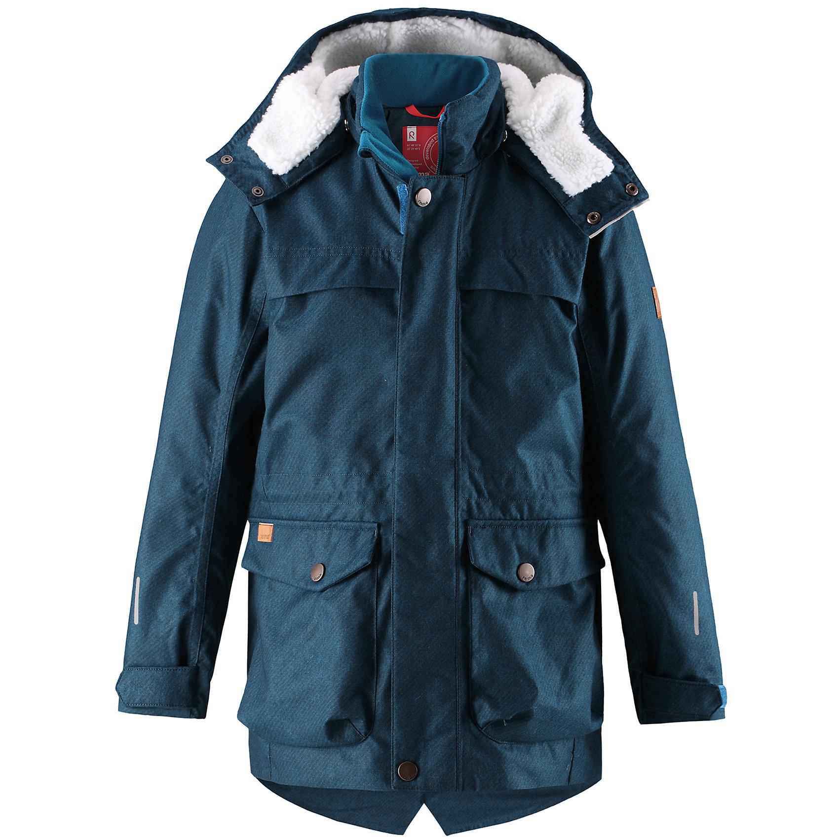 Куртка Pentti Reima для мальчикаОдежда<br>Теплая, водо- и ветронепроницаемая зимняя куртка Reimatec® для детей и подростков. Материал куртки не только водонепроницаемый, ветронепроницаемый и при этом дышащий, но также имеет водо- и грязеотталкивающую поверхность. Все основные швы проклеены, водонепроницаемы. Верхняя часть куртки и капюшон подбиты теплой стеганой подкладкой. <br><br>Куртка снабжена съемным капюшоном, что обеспечивает дополнительную безопасность во время активных прогулок – капюшон легко отстегивается, если случайно за что-нибудь зацепится. Образ довершают практичные детали: завязки на талии, два больших кармана с клапанами, длинная молния высокого качества и светоотражающие элементы.<br>Состав:<br>100% Полиэстер<br><br>Ширина мм: 356<br>Глубина мм: 10<br>Высота мм: 245<br>Вес г: 519<br>Цвет: синий<br>Возраст от месяцев: 156<br>Возраст до месяцев: 168<br>Пол: Мужской<br>Возраст: Детский<br>Размер: 164,104,110,116,122,128,134,140,146,152,158<br>SKU: 6903100