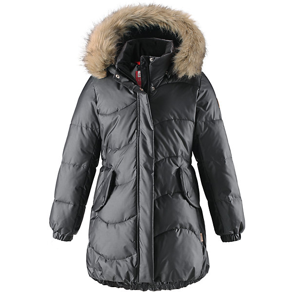 Куртка Reima Sula для девочкиОдежда<br>Характеристики товара:<br><br>• цвет: серый;<br>• состав: 56% полиамид, 44; полиэстер;<br>• подкладка: 100% полиэстер;<br>• утеплитель: искусственный пух;<br>• сезон: зима;<br>• температурный режим: от 0 до -20С;<br>• водонепроницаемость: 3000 мм;<br>• воздухопроницаемость: 7000 мм;<br>• износостойкость: 13000 циклов (тест Мартиндейла);<br>• водо- и ветронепроницаемый, дышащий и грязеотталкивающий материал;<br>• основные швы проклеены и не пропускают влагу;<br>• застежка: молния с дополнительной планкой;<br>• гладкая подкладка из полиэстера;<br>• безопасный съемный капюшон;<br>• съемный искусственный мех на капюшоне;<br>• эластичный пояс сзади;<br>• эластичные подол и манжеты;<br>• два кармана с кнопками;<br>• петля для дополнительных светоотражающих деталей;<br>• светоотражающие детали;<br>• страна бренда: Финляндия;<br>• страна изготовитель: Китай.<br><br>Куртка для девочек на искусственном пуху немного удлиненного покроя снабжена стильной съемной оторочкой из искусственного меха на капюшоне. Она изготовлена из водо и ветронепроницаемого, дышащего материала с водо и грязеотталкивающей поверхностью, поэтому она теплая и простая в уходе. Куртку с гладкой подкладкой из полиэстера легко надевать и очень удобно носить с теплым промежуточным слоем. <br><br>Эта элегантная модель снабжена съемным эластичным пояском сзади и декоративной светоотражающей отделкой, придающей завершающий штрих теплому зимнему наряду. Съемный капюшон не только защищает от пронизывающего ветра, но еще и обеспечивает дополнительную безопасность во время прогулок. Кнопки легко отстегиваются, если капюшон случайно за что-нибудь зацепится. <br><br>Куртку Sula для девочки Reima от финского бренда Reima (Рейма) можно купить в нашем интернет-магазине.<br>Ширина мм: 356; Глубина мм: 10; Высота мм: 245; Вес г: 519; Цвет: серый; Возраст от месяцев: 132; Возраст до месяцев: 144; Пол: Женский; Возраст: Детский; Размер: 152,158,164,104,110,116,122,128,134,140,146; SKU: 