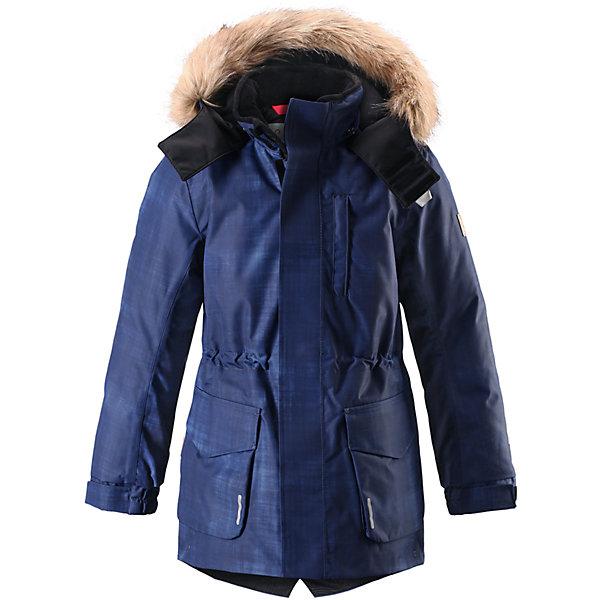 Куртка Reimatec® Reima Naapuri для мальчикаОдежда<br>Характеристики товара:<br><br>• цвет: синий;<br>• 100% полиэстер, полиуретановое покрытие;<br>• утеплитель: 100% полиэстер 140 г/м2;<br>• сезон: зима;<br>• температурный режим: от 0 до -20С;<br>• водонепроницаемость: 15000 мм;<br>• воздухопроницаемость: 7000 мм;<br>• износостойкость: 30000 циклов (тест Мартиндейла)<br>• особенности: с мехом;<br>• водо- и ветронепроницаемый, дышащий и грязеотталкивающий материал;<br>• все швы проклеены и водонепроницаемы;<br>• гладкая подкладка из полиэстера;<br>• безопасный съемный и регулируемый капюшон;<br>• съемный искусственный мех на капюшоне;<br>• регулируемые манжеты рукавов;<br>• внутренняя регулировка обхвата талии;<br>• внутренний нагрудный карман;<br>• внешний нагрудный карман;<br>• два накладных кармана;<br>• петля для крепления ключей или дополнительных светоотражателей;<br>• светоотражающие элементы;<br>• страна бренда: Финляндия;<br>• страна производства: Китай.<br><br>Удлиненная зимняя куртка из специального водо-и ветронепроницаемого материала хорошо пропускает воздух и обладает водо и грязеотталкивающими свойствами. Все швы проклеены и водонепроницаемы, так что дети могут наслаждаться веселыми зимними забавами в любую погоду. У этой модели прямой покрой с регулируемой талией и подолом, так что при желании силуэт можно сделать более приталенным. <br><br>Куртка снабжена двумя большими карманами с клапанами и двумя нагрудными карманами, один из которых на молнии. Удобная петелька, спрятанная в кармане с клапаном – к ней можно прикрепить светоотражатель или ключи. Безопасный съемный капюшон с элегантной съемной оторочкой из искусственного меха. Эта куртка очень проста в уходе, кроме того, ее можно сушить в стиральной машине.<br><br>Куртку Naapuri для мальчика Reimatec® Reima (Рейма) можно купить в нашем интернет-магазине.<br><br>Ширина мм: 356<br>Глубина мм: 10<br>Высота мм: 245<br>Вес г: 519<br>Цвет: синий<br>Возраст от месяцев: 36<br>Возраст до месяцев: 48<br>Пол: 