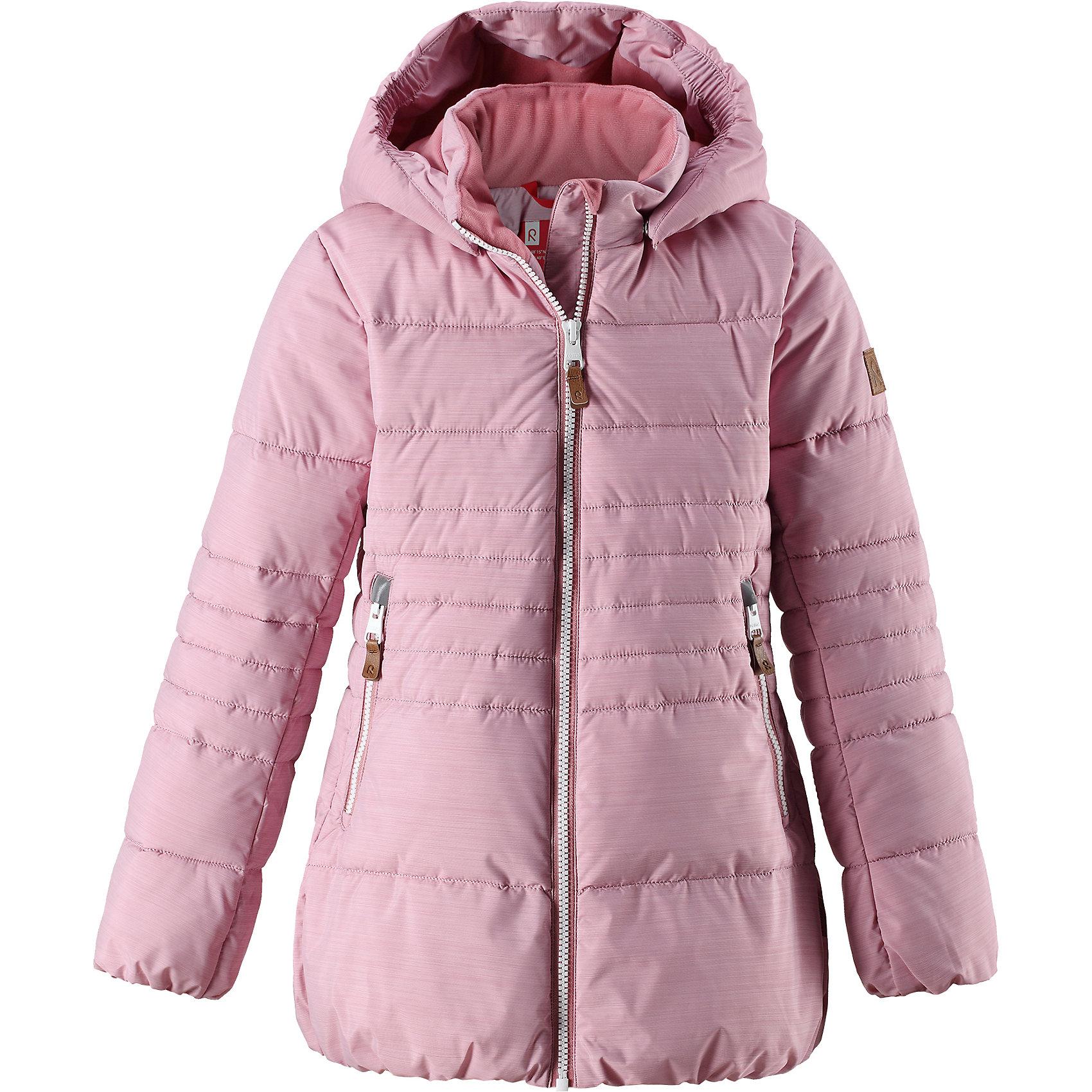 Куртка Reima Liisa для девочкиВерхняя одежда<br>Характеристики товара:<br><br>• цвет: розовый;<br>• состав: 100% полиэстер;<br>• подкладка: 100% полиэстер;<br>• утеплитель: искусственный пух;<br>• сезон: зима;<br>• температурный режим: от 0 до -20С;<br>• водонепроницаемость: 10000 мм;<br>• воздухопроницаемость: 11000 мм;<br>• износостойкость: 30000 циклов (тест Мартиндейла);<br>• водо- и ветронепроницаемый, дышащий и грязеотталкивающий материал;<br>• все швы проклеены и водонепроницаемы;<br>• застежка: молния с защитой подбородка;<br>• гладкая подкладка из полиэстера;<br>• безопасный съемный капюшон;<br>• эластичные манжеты и подол;<br>• два кармана на молнии;<br>• светоотражающие детали;<br>• страна бренда: Финляндия;<br>• страна изготовитель: Китай.<br><br>Детская непромокаемая зимняя куртка изготовлена из водо и ветронепроницаемого, дышащего материала с грязеотталкивающими свойствами. Благодаря гладкой подкладке из полиэстера, куртку легко надевать и удобно носить даже с дополнительным теплым промежуточным слоем. <br><br>Эта модель для девочек снабжена эластичным подолом и манжетами. Съемный и регулируемый капюшон защищает от пронизывающего ветра и дождя, а еще он безопасен во время игр на свежем воздухе. В куртке предусмотрены два кармана на молнии и светоотражающие детали.<br><br>Куртку Liisa для девочки Reima от финского бренда Reima (Рейма) можно купить в нашем интернет-магазине.<br><br>Ширина мм: 356<br>Глубина мм: 10<br>Высота мм: 245<br>Вес г: 519<br>Цвет: розовый<br>Возраст от месяцев: 156<br>Возраст до месяцев: 168<br>Пол: Женский<br>Возраст: Детский<br>Размер: 164,104,110,116,122,128,134,140,146,152,158<br>SKU: 6903945