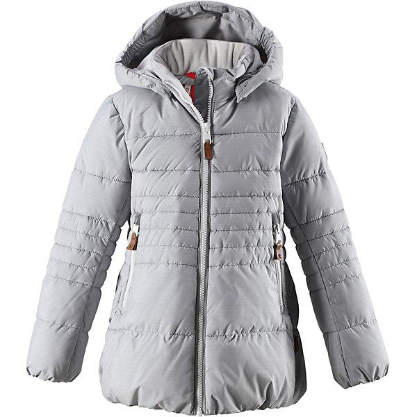 Куртка Reima Liisa для девочкиОдежда<br>Характеристики товара:<br><br>• цвет: серый;<br>• состав: 100% полиэстер;<br>• подкладка: 100% полиэстер;<br>• утеплитель: искусственный пух;<br>• сезон: зима;<br>• температурный режим: от 0 до -20С;<br>• водонепроницаемость: 10000 мм;<br>• воздухопроницаемость: 11000 мм;<br>• износостойкость: 30000 циклов (тест Мартиндейла);<br>• водо- и ветронепроницаемый, дышащий и грязеотталкивающий материал;<br>• все швы проклеены и водонепроницаемы;<br>• застежка: молния с защитой подбородка;<br>• гладкая подкладка из полиэстера;<br>• безопасный съемный капюшон;<br>• эластичные манжеты и подол;<br>• два кармана на молнии;<br>• светоотражающие детали;<br>• страна бренда: Финляндия;<br>• страна изготовитель: Китай.<br><br>Детская непромокаемая зимняя куртка изготовлена из водо и ветронепроницаемого, дышащего материала с грязеотталкивающими свойствами. Благодаря гладкой подкладке из полиэстера, куртку легко надевать и удобно носить даже с дополнительным теплым промежуточным слоем. <br><br>Эта модель для девочек снабжена эластичным подолом и манжетами. Съемный и регулируемый капюшон защищает от пронизывающего ветра и дождя, а еще он безопасен во время игр на свежем воздухе. В куртке предусмотрены два кармана на молнии и светоотражающие детали.<br><br>Куртку Liisa для девочки Reima от финского бренда Reima (Рейма) можно купить в нашем интернет-магазине.<br><br>Ширина мм: 356<br>Глубина мм: 10<br>Высота мм: 245<br>Вес г: 519<br>Цвет: серый<br>Возраст от месяцев: 108<br>Возраст до месяцев: 120<br>Пол: Женский<br>Возраст: Детский<br>Размер: 140,164,158,152,146,134,128,122,116,110,104<br>SKU: 6903957