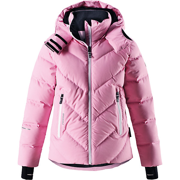 Куртка Reimatec®+ Reima Waken для девочкиОдежда<br>Характеристики товара:<br><br>• цвет: розовый;<br>• состав: 100% полиэстер;<br>• подкладка: 100% полиэстер;<br>• утеплитель: 60% пух, 40% перо;<br>• сезон: зима;<br>• температурный режим: от 0 до -30С;<br>• водонепроницаемость: 10000 мм;<br>• воздухопроницаемость: 5000 мм;<br>• износостойкость: 10000 циклов (тест Мартиндейла);<br>• водо- и ветронепроницаемый, дышащий и грязеотталкивающий материал;<br>• все швы проклеены и водонепроницаемы;<br>• застежка: молния с защитой подбородка;<br>• гладкая подкладка из полиэстера;<br>• безопасный съемный капюшон;<br>• снегозащитные манжеты;<br>• регулируемый подол;<br>• снегозащитный манжет на талии;<br>• два кармана на молнии;<br>• карман для очков, внутренний нагрудный карман;<br>• петля для проводов наушников;<br>• карман с креплением для сенсора ReimaGO®;<br>• светоотражающие детали;<br>• страна бренда: Финляндия;<br>• страна изготовитель: Китай.<br><br>Куртка-пуховик для детей и подростков снабжена множеством функциональных деталей! Она сшита из специального материала Reimatec® стрейч, водо и ветронепроницаемого, грязеотталкивающего, дышащего и эластичного. Гладкая подкладка и прочная молния облегчают надевание. Снежная юбка на талии и защитная мембрана на манжетах станут непреодолимым барьером на пути холода. <br><br>Съемный капюшон не только защищает от пронизывающего ветра, но еще и безопасен. Пуховик разработан специально для лыжников и любителей других зимних видов спорта, он оснащен специальным карманом для защитных очков, внутренним нагрудным карманом, петельками для шнура наушников и карманом для сенсора ReimaGO. Подол легко регулируется, что позволяет подогнать эту куртку для девочек идеально по фигуре.<br><br>Куртку Waken для девочки Reimatec®+ Reima от финского бренда Reima (Рейма) можно купить в нашем интернет-магазине.<br>Ширина мм: 356; Глубина мм: 10; Высота мм: 245; Вес г: 519; Цвет: розовый; Возраст от месяцев: 120; Возраст до месяцев: 132; Пол: Женский; 