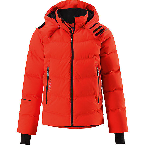 Куртка Reimatec®+ Reima Wakeup для мальчикаВерхняя одежда<br>Характеристики товара:<br><br>• цвет: оранжевый;<br>• состав: 100% полиэстер;<br>• подкладка: 100% полиэстер;<br>• утеплитель: 60% пух, 40% перо;<br>• сезон: зима;<br>• температурный режим: от 0 до -30С;<br>• водонепроницаемость: 10000 мм;<br>• воздухопроницаемость: 5000 мм;<br>• износостойкость: 10000 циклов (тест Мартиндейла);<br>• водо- и ветронепроницаемый, дышащий и грязеотталкивающий материал;<br>• все швы проклеены и водонепроницаемы;<br>• застежка: молния с защитой подбородка;<br>• гладкая подкладка из полиэстера;<br>• безопасный съемный капюшон;<br>• снегозащитные манжеты;<br>• регулируемый подол;<br>• снегозащитный манжет на талии;<br>• два кармана на молнии;<br>• карман для очков, внутренний нагрудный карман;<br>• петля для проводов наушников;<br>• карман с креплением для сенсора ReimaGO®;<br>• светоотражающие детали;<br>• страна бренда: Финляндия;<br>• страна изготовитель: Китай.<br><br>Куртка-пуховик для детей и подростков снабжена множеством функциональных деталей! Она сшита из специального материала Reimatec® стрейч, водо и ветронепроницаемого, грязеотталкивающего, дышащего и эластичного. Гладкая подкладка и прочная молния облегчают надевание. Снежная юбка на талии и защитная мембрана на манжетах станут непреодолимым барьером на пути холода. <br><br>Съемный капюшон не только защищает от пронизывающего ветра, но еще и безопасен. Пуховик разработан специально для лыжников и любителей других зимних видов спорта, он оснащен специальным карманом для защитных очков, внутренним нагрудным карманом, петельками для шнура наушников и карманом для сенсора ReimaGO. Подол легко регулируется, что позволяет подогнать эту куртку прямого кроя идеально по фигуре.<br><br>Куртку Wakeup для мальчика Reimatec®+ Reima от финского бренда Reima (Рейма) можно купить в нашем интернет-магазине.<br><br>Ширина мм: 356<br>Глубина мм: 10<br>Высота мм: 245<br>Вес г: 519<br>Цвет: красный<br>Возраст от месяцев: 144<br>Возраст 