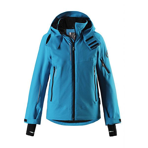 Куртка Reimatec®+ Reima Morgen для мальчикаВерхняя одежда<br>Характеристики товара:<br><br>• цвет: голубой;<br>• состав: 100% полиэстер;<br>• подкладка: 100% полиэстер;<br>• утеплитель: 140 г/м2;<br>• сезон: зима;<br>• температурный режим: от 0 до -20С;<br>• водонепроницаемость: 10000 мм;<br>• воздухопроницаемость: 8000 мм;<br>• износостойкость: 15000 циклов (тест Мартиндейла);<br>• водо- и ветронепроницаемый, дышащий и грязеотталкивающий материал;<br>• все швы проклеены и водонепроницаемы;<br>• застежка: молния с защитой подбородка;<br>• гладкая подкладка из полиэстера;<br>• безопасный съемный и регулируемый капюшон;<br>• место соединения куртки с брюками скрыто снегозащитной манжетой;<br>• регулируемые манжеты и внутренние манжеты из лайкры;<br>• удлиненные манжеты;<br>• два кармана на молнии;<br>• регулируемый подол, снегозащитный манжет на талии;<br>• карманы на молнии, карман для skipass на рукаве;<br>• карман для очков, внутренний нагрудный карман и петли для проводов наушников;<br>• карман с креплением для сенсора ReimaGO®;<br>• светоотражающие детали;<br>• страна бренда: Финляндия;<br>• страна изготовитель: Китай.<br><br>Куртка сшита из специального водо и ветронепроницаемого, дышащего материала, который к тому же имеет водо и грязеотталкивающую поверхность. Все швы проклеены, водонепроницаемы. Удобная гладкая подкладка из полиэстера и молния во всю длину облегчают надевание. С помощью удобных кнопок на снежной юбке можно пристегнуть куртку к брюкам. А за ненадобностью, снежную юбку можно пристегнуть к карманам. <br><br>Безопасный съемный и регулируемый капюшон легко отстегнется, если вдруг за что-нибудь зацепится. Она оснащена карманом для лыжной карты на рукаве, который поможет быстро достать карточку в очереди на подъемник, и специальным карманом для сверхсовременного сенсора ReimaGO®! Благодаря удобным петелькам провод от наушников не запутается. Регулируемые манжеты помогут подобрать нужную ширину рукавов, а внутренние манжеты из лайкры не пропустят хол