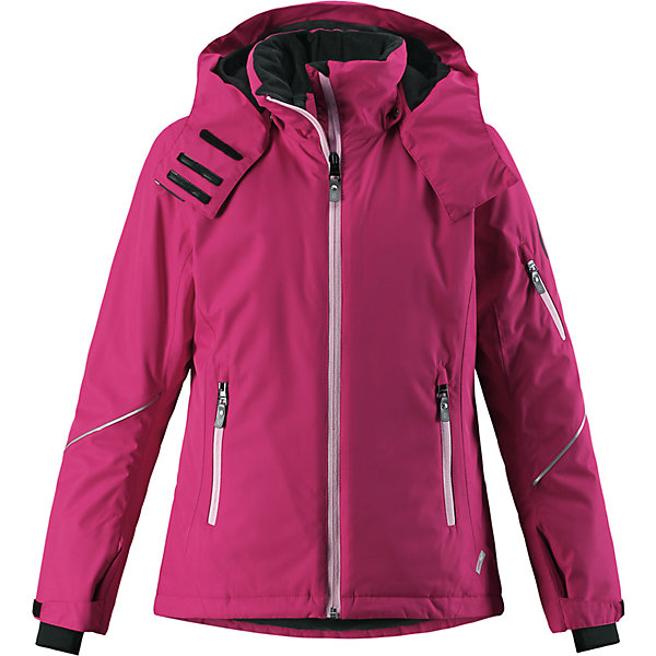 Куртка Reimatec® Reima Glow для девочкиОдежда<br>Характеристики товара:<br><br>• цвет: фуксия;<br>• состав: 100% полиэстер;<br>• подкладка: 100% полиэстер;<br>• утеплитель: 140 г/м2;<br>• сезон: зима;<br>• температурный режим: от 0 до -20С;<br>• водонепроницаемость: 5000 мм;<br>• воздухопроницаемость: 7000 мм;<br>• износостойкость: 10000 циклов (тест Мартиндейла);<br>• водо- и ветронепроницаемый, дышащий и грязеотталкивающий материал;<br>• основные швы проклеены и водонепроницаемы;<br>• застежка: молния с защитой подбородка;<br>• гладкая подкладка из полиэстера;<br>• безопасный съемный и регулируемый капюшон;<br>• регулируемые манжеты и внутренние манжеты из лайкры;<br>• регулируемый подол, снегозащитный манжет на талии;<br>• карманы на молнии, карман для skipass на рукаве;<br>• карман для очков, внутренний нагрудный карман;<br>• светоотражающие детали;<br>• страна бренда: Финляндия;<br>• страна изготовитель: Китай.<br><br>Детская непромокаемая зимняя куртка Reimatec® изготовлена из водо и ветронепроницаемого, дышащего материала с высокими грязеотталкивающими характеристиками. Все основные швы в ней проклеены, водонепроницаемы. В этой модели для девочек подол легко регулируется, что позволяет подогнать куртку идеально по фигуре. <br><br>Съемный регулируемый капюшон защищает от пронизывающего ветра и безопасен во время катания на лыжах. Симпатичная гладкая подкладка и практичные ветроотражатели по краю капюшона обеспечивают дополнительную защиту от холодного ветра. <br><br>Эта куртка с множеством замечательных деталей просто создана для лыжных склонов: снежная юбка на талии, карман для лыжной карты на рукаве, два кармана на молнии, внутренний нагрудный карман и специальный карман для лыжных очков. От повседневного комфорта до экстремальных условий.<br><br>Куртку Glow для девочки Reimatec® Reima от финского бренда Reima (Рейма) можно купить в нашем интернет-магазине.<br>Ширина мм: 356; Глубина мм: 10; Высота мм: 245; Вес г: 519; Цвет: розовый; Возраст от месяцев: 72; 