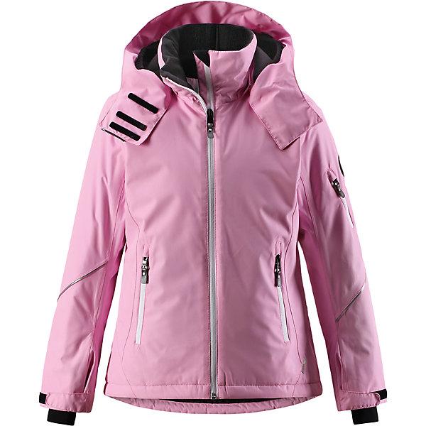 Куртка Reimatec® Reima Glow для девочкиОдежда<br>Характеристики товара:<br><br>• цвет: розовый;<br>• состав: 100% полиэстер;<br>• подкладка: 100% полиэстер;<br>• утеплитель: 140 г/м2;<br>• сезон: зима;<br>• температурный режим: от 0 до -20С;<br>• водонепроницаемость: 5000 мм;<br>• воздухопроницаемость: 7000 мм;<br>• износостойкость: 10000 циклов (тест Мартиндейла);<br>• водо- и ветронепроницаемый, дышащий и грязеотталкивающий материал;<br>• основные швы проклеены и водонепроницаемы;<br>• застежка: молния с защитой подбородка;<br>• гладкая подкладка из полиэстера;<br>• безопасный съемный и регулируемый капюшон;<br>• регулируемые манжеты и внутренние манжеты из лайкры;<br>• регулируемый подол, снегозащитный манжет на талии;<br>• карманы на молнии, карман для skipass на рукаве;<br>• карман для очков, внутренний нагрудный карман;<br>• светоотражающие детали;<br>• страна бренда: Финляндия;<br>• страна изготовитель: Китай.<br><br>Детская непромокаемая зимняя куртка Reimatec® изготовлена из водо и ветронепроницаемого, дышащего материала с высокими грязеотталкивающими характеристиками. Все основные швы в ней проклеены, водонепроницаемы. В этой модели для девочек подол легко регулируется, что позволяет подогнать куртку идеально по фигуре. <br><br>Съемный регулируемый капюшон защищает от пронизывающего ветра и безопасен во время катания на лыжах. Симпатичная гладкая подкладка и практичные ветроотражатели по краю капюшона обеспечивают дополнительную защиту от холодного ветра. <br><br>Эта куртка с множеством замечательных деталей просто создана для лыжных склонов: снежная юбка на талии, карман для лыжной карты на рукаве, два кармана на молнии, внутренний нагрудный карман и специальный карман для лыжных очков. От повседневного комфорта до экстремальных условий.<br><br>Куртку Glow для девочки Reimatec® Reima от финского бренда Reima (Рейма) можно купить в нашем интернет-магазине.<br>Ширина мм: 356; Глубина мм: 10; Высота мм: 245; Вес г: 519; Цвет: розовый; Возраст от месяцев: 120