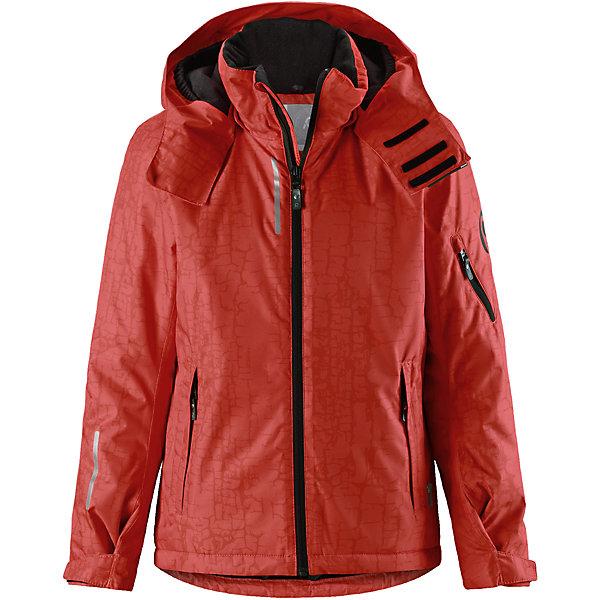 Куртка Reimatec® Reima Detour для мальчикаОдежда<br>Характеристики товара:<br><br>• цвет: оранжевый;<br>• состав: 100% полиэстер;<br>• подкладка: 100% полиэстер;<br>• утеплитель: 140 г/м2;<br>• сезон: зима;<br>• температурный режим: от 0 до -20С;<br>• водонепроницаемость: 5000 мм;<br>• воздухопроницаемость: 4000 мм;<br>• износостойкость: 15000 циклов (тест Мартиндейла);<br>• водо- и ветронепроницаемый, дышащий и грязеотталкивающий материал;<br>• основные швы проклеены и водонепроницаемы;<br>• застежка: молния с защитой подбородка;<br>• гладкая подкладка из полиэстера;<br>• безопасный съемный и регулируемый капюшон;<br>• регулируемые манжеты и внутренние манжеты из лайкры;<br>• регулируемый подол, снегозащитный манжет на талии;<br>• карманы на молнии, карман для skipass на рукаве;<br>• карман для очков, внутренний нагрудный карман;<br>• светоотражающие детали;<br>• страна бренда: Финляндия;<br>• страна изготовитель: Китай.<br><br>Детская непромокаемая зимняя куртка изготовлена из ветронепроницаемого, дышащего материала с верхним водо и грязеотталкивающим слоем. Основные швы в куртке проклеены и водонепроницаемы, поэтому никакой дождь не помешает веселым зимним играм на свежем воздухе! <br><br>Эта куртка с множеством функциональных деталей, идеально подходит для активного дня на свежем воздухе: регулируемый подол со снежной юбкой не пропустит внутрь влагу и снег, а регулируемые манжеты с внутренними манжетами из лайкры защищают запястья от холода. <br><br>Карман для лыжной карты на рукаве поможет быстро достать карточку в очереди на подъемник, а в кармане для очков и внутреннем нагрудном кармане можно носить лыжные очки. Съемный и регулируемый капюшон защищает от пронизывающего ветра, к тому же он абсолютно безопасен на лыжном склоне – легко отстегнется, если вдруг за что-нибудь зацепится. <br><br>Куртку Detour для мальчика Reimatec® Reima от финского бренда Reima (Рейма) можно купить в нашем интернет-магазине.<br>Ширина мм: 356; Глубина мм: 10; Высота мм: 245; Вес г:
