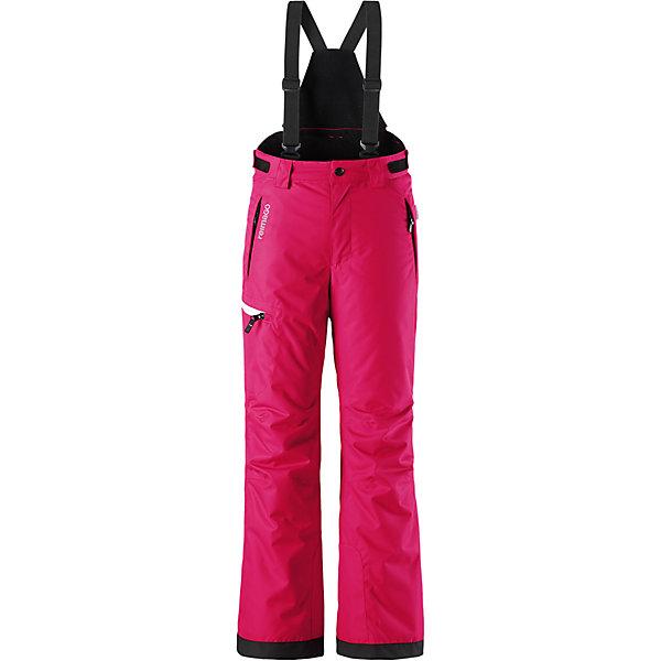 Брюки Reimatec® Reima Terrie для девочкиОдежда<br>Характеристики товара:<br><br>• цвет: розовый;<br>• состав: 100% полиэстер<br>• утеплитель: 100 г/м2;<br>• сезон: зима;<br>• температурный режим: от 0 до -20С;<br>• водонепроницаемость: 15000 мм;<br>• воздухопроницаемость: 7000 мм;<br>• износостойкость: 40000 циклов (тест Мартиндейла);<br>• водо- и ветронепроницаемый, дышащий и грязеотталкивающий материал;<br>• все швы проклеены и водонепроницаемы;<br>• гладкая подкладка из полиэстера;<br>• регулируемый обхват талии;<br>• снегозащитные манжеты на штанинах;<br>• застежка: молния и пуговица;<br>• карманы на молнии;<br>• регулируемые, съемные эластичные подтяжки;<br>• карман с креплениями для сенсора ReimaGO®<br>• светоотражающие элементы;<br>• страна бренда: Финляндия;<br>• страна производства: Китай.<br><br>Водонепроницаемые зимние брюки сшиты из очень прочного, ветронепроницаемого и дышащего материала. Благодаря водо и грязеотталкивающей пропитке, брюки очень просты в уходе. Все швы в этих брюках проклеены и водонепроницаемы. <br><br>Съемные и регулируемые подтяжки не дадут брюкам спадать, а регулируемая талия обеспечит идеальную посадку по фигуре. Брюки с гладкой подкладкой из полиэстера и ширинкой на молнии легко надевать и очень удобно носить с теплым промежуточным слоем. <br><br>Концы брючин снабжены прочными усилениями и защитой от снега. В большом кармане на одной из брючин можно носить разные мелочи, а для сенсора ReimaGO® предусмотрен маленький потайной карман. Модель прямого кроя для девочек имеет слегка зауженный фасон. <br><br>Брюки Terrie для девочки Reimatec® Reima (Рейма) можно купить в нашем интернет-магазине.<br>Ширина мм: 215; Глубина мм: 88; Высота мм: 191; Вес г: 336; Цвет: розовый; Возраст от месяцев: 96; Возраст до месяцев: 108; Пол: Женский; Возраст: Детский; Размер: 134,164,158,152,146,140; SKU: 6904311;