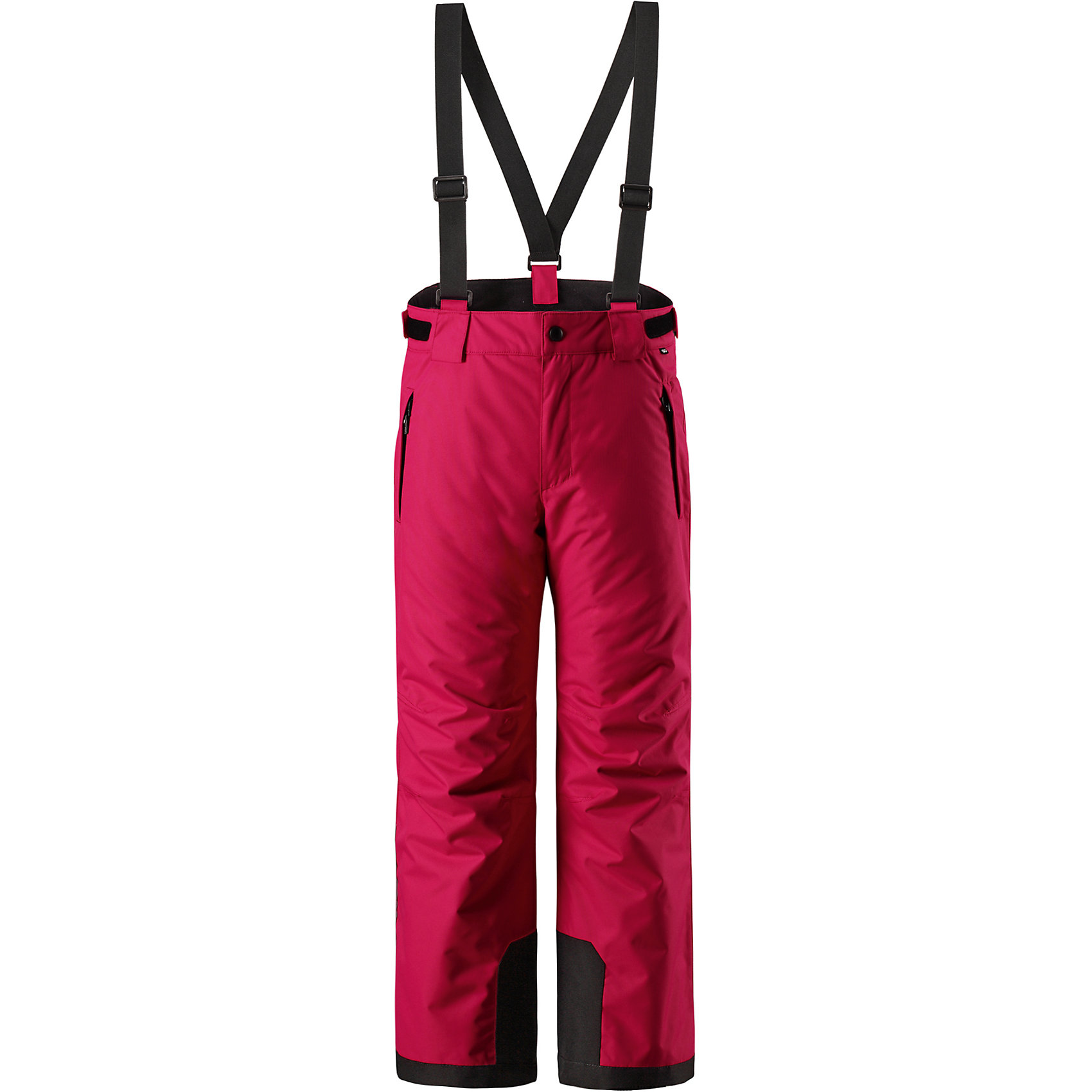 Брюки Reimatec® Reima TakeoffВерхняя одежда<br>Характеристики товара:<br><br>• цвет: розовый;<br>• 100% полиэстер, полиуретановое покрытие;<br>• утеплитель: 100% полиэстер 120 г/м2;<br>• сезон: зима;<br>• температурный режим: от 0 до -20С;<br>• водонепроницаемость: 12000 мм;<br>• воздухопроницаемость: 8000 мм;<br>• износостойкость: 30000 циклов (тест Мартиндейла)<br>• особенности: с подтяжками;<br>• водо- и ветронепроницаемый, дышащий и грязеотталкивающий материал;<br>• все швы проклеены и водонепроницаемы;<br>• гладкая подкладка из полиэстера;<br>• прочные усиленные вставки внизу брючин;<br>• регулируемый обхват талии;<br>• снегозащитные манжеты на штанинах;<br>• застежка: молния, пуговица;<br>• карманы на молнии;<br>• регулируемые съемные эластичные подтяжки;<br>• потайной карман для датчика ReimaGO®;<br>• светоотражающие элементы;<br>• страна бренда: Финляндия;<br>• страна производства: Китай.<br><br>Зимние брюки просто созданы для активных детей: они отталкивают влагу и грязь, а все швы в них проклеены и водонепроницаемы. Ветронепроницаемый и в то же время дышащий материал обеспечивает комфорт во время увлекательных прогулок – ребенку будет тепло, но он не вспотеет. <br><br>Очень удобные съемные и регулируемые подтяжки будут надежно поддерживать брюки во время всех активных приключений. Прочные усиления на концах брючин защищают лодыжки. Благодаря защите от снега, никакой снег и мороз не проберутся внутрь, так что брюки идеально подойдут для сноубординга и горных лыж. <br><br>Регулируемая талия обеспечит отличную посадку по фигуре. Эта модель с прямым, слегка свободным покроем снабжена потайным карманом для сенсора ReimaGO. <br><br>Брюки Takeoff Reimatec® Reima (Рейма) можно купить в нашем интернет-магазине.<br><br>Ширина мм: 215<br>Глубина мм: 88<br>Высота мм: 191<br>Вес г: 336<br>Цвет: розовый<br>Возраст от месяцев: 36<br>Возраст до месяцев: 48<br>Пол: Унисекс<br>Возраст: Детский<br>Размер: 104,164,110,116,122,128,134,140,146,152,158<br>SKU: 6904346
