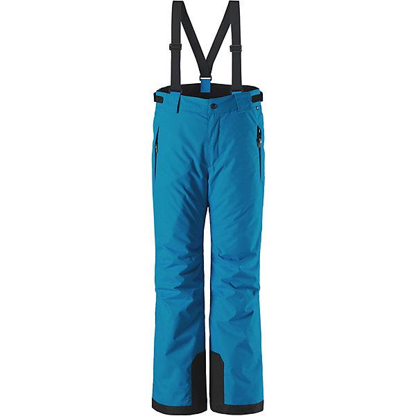 Брюки Reimatec® Reima Takeoff для девочкиВерхняя одежда<br>Характеристики товара:<br><br>• цвет: синий;<br>• 100% полиэстер, полиуретановое покрытие;<br>• утеплитель: 100% полиэстер 120 г/м2;<br>• сезон: зима;<br>• температурный режим: от 0 до -20С;<br>• водонепроницаемость: 12000 мм;<br>• воздухопроницаемость: 8000 мм;<br>• износостойкость: 30000 циклов (тест Мартиндейла)<br>• особенности: с подтяжками;<br>• водо- и ветронепроницаемый, дышащий и грязеотталкивающий материал;<br>• все швы проклеены и водонепроницаемы;<br>• гладкая подкладка из полиэстера;<br>• прочные усиленные вставки внизу брючин;<br>• регулируемый обхват талии;<br>• снегозащитные манжеты на штанинах;<br>• застежка: молния, пуговица;<br>• карманы на молнии;<br>• регулируемые съемные эластичные подтяжки;<br>• потайной карман для датчика ReimaGO®;<br>• светоотражающие элементы;<br>• страна бренда: Финляндия;<br>• страна производства: Китай.<br><br>Зимние брюки просто созданы для активных детей: они отталкивают влагу и грязь, а все швы в них проклеены и водонепроницаемы. Ветронепроницаемый и в то же время дышащий материал обеспечивает комфорт во время увлекательных прогулок – ребенку будет тепло, но он не вспотеет. <br><br>Очень удобные съемные и регулируемые подтяжки будут надежно поддерживать брюки во время всех активных приключений. Прочные усиления на концах брючин защищают лодыжки. Благодаря защите от снега, никакой снег и мороз не проберутся внутрь, так что брюки идеально подойдут для сноубординга и горных лыж. <br><br>Регулируемая талия обеспечит отличную посадку по фигуре. Эта модель с прямым, слегка свободным покроем снабжена потайным карманом для сенсора ReimaGO. <br><br>Брюки Takeoff Reimatec® Reima (Рейма) можно купить в нашем интернет-магазине.<br><br>Ширина мм: 215<br>Глубина мм: 88<br>Высота мм: 191<br>Вес г: 336<br>Цвет: синий<br>Возраст от месяцев: 120<br>Возраст до месяцев: 132<br>Пол: Женский<br>Возраст: Детский<br>Размер: 146,134,128,122,116,110,104,140,164,158,152<br>SKU: 6904382