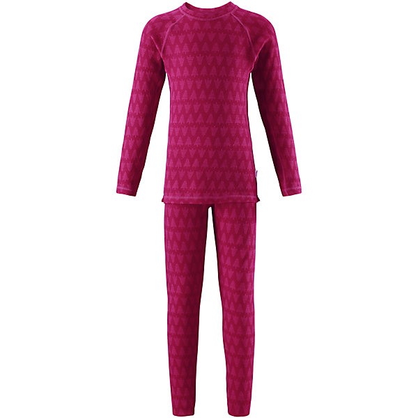 Комплект нижнего белья Reima Taival для девочкиОдежда<br>Характеристики товара:<br><br>• цвет: розовый;<br>• состав: 80% шерсть, 20% полиамид;<br>• сезон: демисезон;<br>• шерсть идеально поддерживает температуру;<br>• мягкие плоские швы для дополнительного комфорта: не раздражают кожу;<br>• удлиненный подол сзади для дополнительной защиты;<br>• эластичная талия;<br>• страна бренда: Финляндия;<br>• страна изготовитель: Китай;<br><br>Детский базовый комплект изготовлен из невероятно мягкого шерстяного жаккарда, который превосходно регулирует температуру, благодаря чему этот комплект можно носить круглый год. Этот материал очень приятный на ощупь, а мягкие плоские швы совершенно не натирают кожу. Эластичный трикотаж плотно сидит, но при этом позволяет свободно двигаться. <br><br>Комплект нижнего белья Taival Reima (Рейма) можно купить в нашем интернет-магазине.<br>Ширина мм: 196; Глубина мм: 10; Высота мм: 154; Вес г: 152; Цвет: розовый; Возраст от месяцев: 84; Возраст до месяцев: 96; Пол: Женский; Возраст: Детский; Размер: 160,110,150,140,130,120,100,90,80; SKU: 6904460;