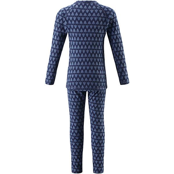 Комплект нижнего белья Reima Taival для мальчикаФлис и термобелье<br>Характеристики товара:<br><br>• цвет: синий;<br>• состав: 80% шерсть, 20% полиамид;<br>• сезон: демисезон;<br>• шерсть идеально поддерживает температуру;<br>• мягкие плоские швы для дополнительного комфорта: не раздражают кожу;<br>• удлиненный подол сзади для дополнительной защиты;<br>• эластичная талия;<br>• страна бренда: Финляндия;<br>• страна изготовитель: Китай;<br><br>Детский базовый комплект изготовлен из невероятно мягкого шерстяного жаккарда, который превосходно регулирует температуру, благодаря чему этот комплект можно носить круглый год. Этот материал очень приятный на ощупь, а мягкие плоские швы совершенно не натирают кожу. Эластичный трикотаж плотно сидит, но при этом позволяет свободно двигаться. <br><br>Комплект нижнего белья Taival Reima (Рейма) можно купить в нашем интернет-магазине.<br><br>Ширина мм: 196<br>Глубина мм: 10<br>Высота мм: 154<br>Вес г: 152<br>Цвет: синий<br>Возраст от месяцев: 15<br>Возраст до месяцев: 18<br>Пол: Мужской<br>Возраст: Детский<br>Размер: 80,160,150,140,130,120,110,100,90<br>SKU: 6904470
