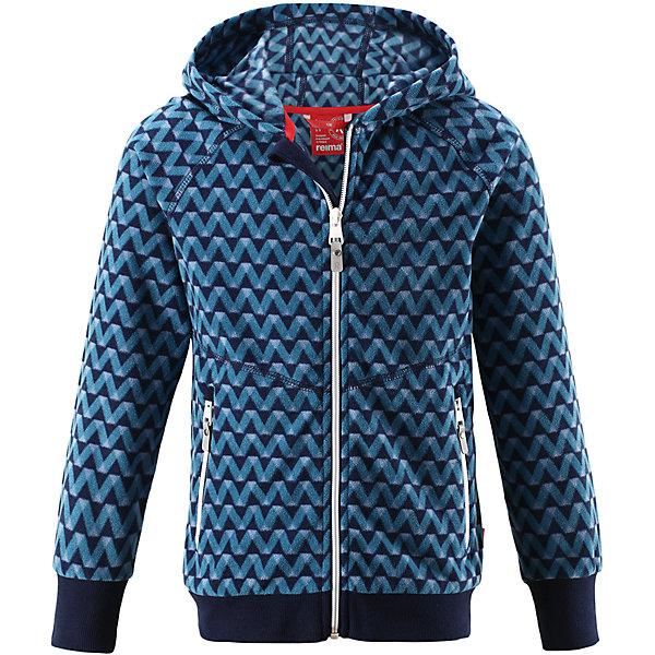 Флисовая кофта Reima Ulv для мальчикаОдежда<br>Характеристики товара:<br><br>• цвет: синий;<br>• состав: 100% полиэстер, флис; <br>• сезон: демисезон;<br>• выводит влагу в верхние слои одежды;<br>• теплый, легкий и быстросохнущий флис;<br>• регулируемый капюшон;<br>• резинка на талии и манжетах;<br>• молния по всей длине с защитой подбородка;<br>• два кармана на молнии;<br>• страна бренда: Финляндия;<br>• страна изготовитель: Китай;<br><br>Детская флисовая куртка на прохладный день. Можно использовать как верхнюю одежду в комплекте с жилеткой в теплую сухую погоду весной и осенью или поддевать в качестве промежуточного слоя в холода. Высококачественный полярный флис – это теплый, легкий и быстросохнущий материал, отводящий влагу с кожи.<br><br>Флисовую кофту Reima Ulv для мальчика (Рейма) можно купить в нашем интернет-магазине.<br>Ширина мм: 190; Глубина мм: 74; Высота мм: 229; Вес г: 236; Цвет: синий; Возраст от месяцев: 48; Возраст до месяцев: 60; Пол: Мужской; Возраст: Детский; Размер: 110,104,98,92,164,158,152,146,140,134,128,122,116; SKU: 6904614;