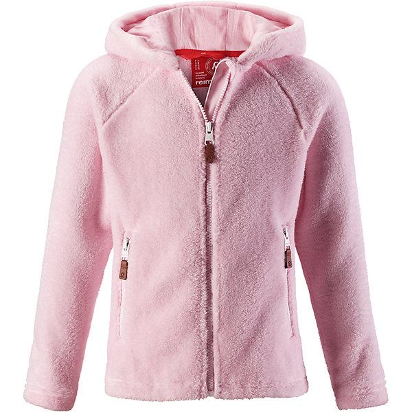Флисовая кофта Reima Vilja для девочкиТолстовки<br>Характеристики товара:<br><br>• цвет: светло-розовый;<br>• состав: 100% полиэстер, флис; <br>• сезон: демисезон;<br>• выводит влагу в верхние слои одежды;<br>• мягкий и удобный пушистый флис;<br>• регулируемый капюшон;<br>• резинка на талии и манжетах;<br>• молния по всей длине с защитой подбородка;<br>• два кармана на молнии;<br>• страна бренда: Финляндия;<br>• страна изготовитель: Китай;<br><br>Эта кофта для детей и подростков сшита из необыкновенно мягкого и пушистого флиса. Для пошива использован дышащий, эластичный и быстросохнущий материал с влагоотводящими свойствами. Облегающий капюшон и молния во всю длину со вставкой для защиты подбородка. Все ценные сокровища будут надежно спрятаны в двух карманах на молнии. Невероятно удобная и универсальная кофта, которую можно носить круглый год. <br><br>Флисовую кофту Reima Vilja для девочки (Рейма) можно купить в нашем интернет-магазине.<br><br>Ширина мм: 190<br>Глубина мм: 74<br>Высота мм: 229<br>Вес г: 236<br>Цвет: розовый<br>Возраст от месяцев: 36<br>Возраст до месяцев: 48<br>Пол: Женский<br>Возраст: Детский<br>Размер: 104,164,110,116,122,128,134,140,146,152,158<br>SKU: 6904666