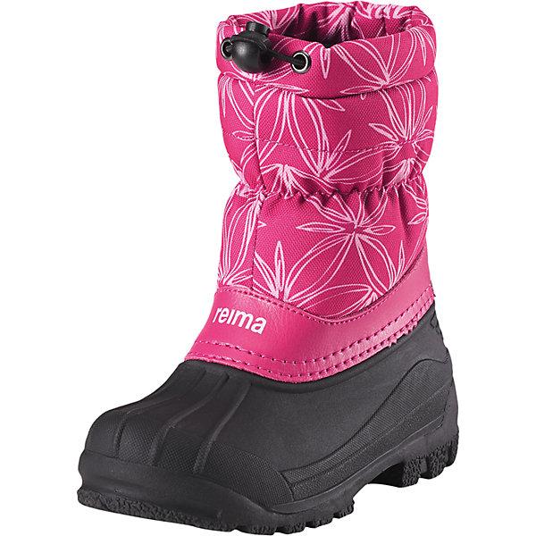 Зимние сапоги Nefar Reima  для девочкиОбувь<br>Характеристики товара:<br><br>• цвет: розовый;<br>• внешний материал: натуральная кожа, текстиль, резина;<br>• внутренний материал: искусственный мех;<br>• стелька: войлок;<br>• подошва: термопластичный каучук;<br>• сезон: зима;<br>• температурный режим: от -5 до -20С;<br>• водоотталкивающая зимняя обувь с резиновыми галошами;<br>• верх из натуральной кожи и текстиля;<br>• подошва из термопластичного каучука обеспечивает хорошее сцепление с поверхностью;<br>• подкладка из искусственного меха;<br>• легко надеваются на ноги;<br>• застежка: шнурок-утяжка со стопером по верху ботинок;<br>• светоотражающие детали;<br>• страна бренда: Финляндия;<br>• страна производства: Китай.<br><br>Детские водоотталкивающие зимние ботинки стали настоящим воплощением классики Reima®. Ботинки защищают ноги от воды не только снизу, но и сверху – галоша сделана из абсолютно непромокаемой и прочной термопластичной резины. Удобное и утепленное голенище тоже не пропускает воду, кроме того, на нем предусмотрена регулируемая защита от снега, которая станет надежным барьером для холода и влаги. Теплая текстильная подкладка согреет ноги во время прогулок в морозную погоду. На заднике имеется светоотражатель, а перед каблуком предусмотрена специальная выемка, позволяющая закреплять штрипки и защищающая их от износа.<br><br>Ботинки Nefar Reima (Рейма) можно купить в нашем интернет-магазине.<br>Ширина мм: 262; Глубина мм: 176; Высота мм: 97; Вес г: 427; Цвет: розовый; Возраст от месяцев: 21; Возраст до месяцев: 24; Пол: Женский; Возраст: Детский; Размер: 24,35,34,33,32,31,30,29,28,27,26,25; SKU: 6904880;