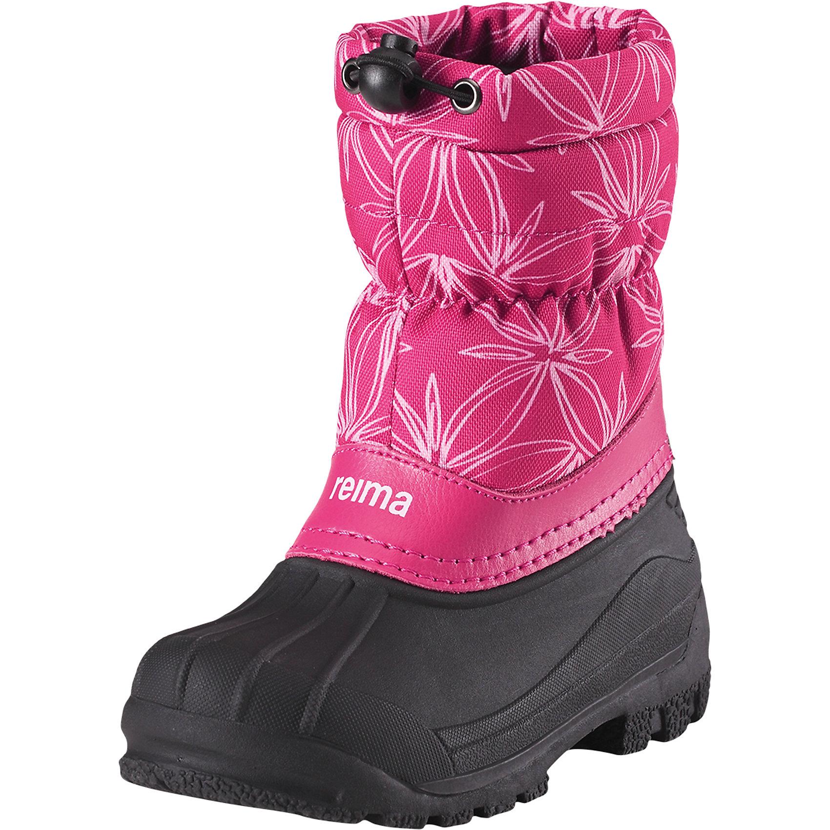 Ботинки Nefar ReimaОбувь<br>Эти детские водоотталкивающие зимние ботинки стали настоящим воплощением классики Reima®. Ботинки защищают ноги от воды не только снизу, но и сверху – галоша сделана из абсолютно непромокаемой и прочной термопластичной резины. Удобное и утепленное голенище тоже не пропускает воду, кроме того, на нем предусмотрена регулируемая защита от снега, которая станет надежным барьером для холода и влаги. Теплая текстильная подкладка согреет ноги во время прогулок в морозную погоду. На заднике имеется светоотражатель, а перед каблуком предусмотрена специальная выемка, позволяющая закреплять штрипки и защищающая их от износа. Эти ботинки легко надевать – полная готовность к активным прогулкам!<br>Состав:<br>Подошва: Термопластичная резина Верх: Полиэстер/Кожа<br><br>Ширина мм: 262<br>Глубина мм: 176<br>Высота мм: 97<br>Вес г: 427<br>Цвет: розовый<br>Возраст от месяцев: 96<br>Возраст до месяцев: 108<br>Пол: Унисекс<br>Возраст: Детский<br>Размер: 35,24,25,26,27,28,29,30,31,32,33,34<br>SKU: 6904880