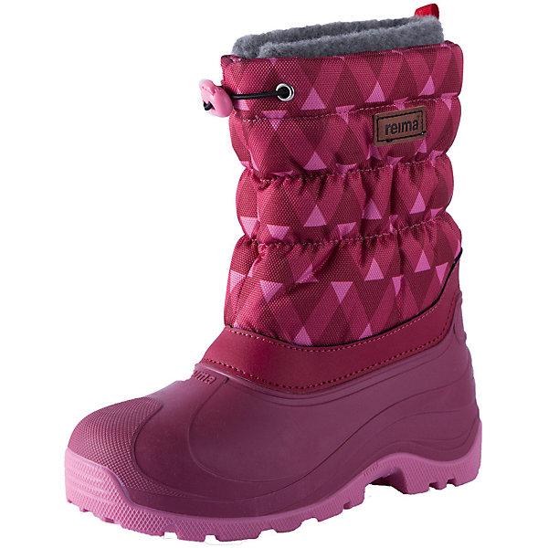 Ботинки Reima Ivalo  для девочкиБотинки<br>Характеристики товара:<br><br>• цвет: розовый;<br>• внешний материал: полиэстер, полиуретан;<br>• внутренний материал: искусственный мех;<br>• стелька: искусственный мех;<br>• подошва: полиуретан, термопластичная резина;<br>• сезон: зима;<br>• температурный режим: от 0 до -25С;<br>• водоотталкивающая зимняя обувь с водонепроницаемыми галошами;<br>• легкая утепленная галоша из полиуретана;<br>• подошва из термопластичной резины;<br>• подкладка из искусственного меха;<br>• съемный внутренний сапожок;<br>• легко надеваются на ноги;<br>• шнурок-утяжка со стопером по верху сапог;<br>• легкие и водонепроницаемые литые галоши;<br>• алюминиевая стелька для улучшения теплоизоляции;<br>• светоотражающие элементы;<br>• страна бренда: Финляндия;<br>• страна производства: Италия.<br><br>Водоотталкивающие, теплые высококачественные зимние ботинки. Сноубутсы отлично подходят для игр в снегу, а еще они пригодятся а дождь и слякоть – галоша сделана из абсолютно непромокаемой и прочной термопластичной резины. Эти ботинки быстро и легко надеваются, а благодаря регулируемой защите от снега на голенище, станут надежным барьером от снега. <br><br>Подошва изготовлена из термопластичной резины, которая обеспечивает хорошее сцепление на любой поверхности. Дышащая и теплая подкладка из искусственного меха отлично согревает ноги, а алюминиевая внутренняя подошва обеспечивает дополнительную теплоизоляцию. Практичный съемный носок пригоден для машинной стирки.<br><br>Ботинки Ivalo Reima (Рейма) можно купить в нашем интернет-магазине.<br><br>Ширина мм: 262<br>Глубина мм: 176<br>Высота мм: 97<br>Вес г: 427<br>Цвет: розовый<br>Возраст от месяцев: 108<br>Возраст до месяцев: 120<br>Пол: Женский<br>Возраст: Детский<br>Размер: 36/37,20/21,34/35,32/33,30/31,28/29,26/27,24/25,22/23<br>SKU: 6905028