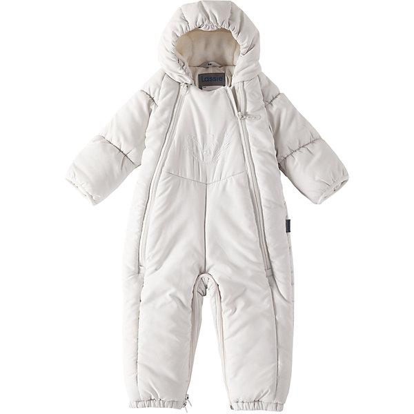 Комбинезон-трансформер LassieВерхняя одежда<br>Характеристики товара:<br><br>• цвет: белый;<br>• состав: 100% полиэстер, полиуретановое покрытие;<br>• подкладка: 100% хлопок, джерси;<br>• утеплитель: 200 г/м2;<br>• сезон: зима;<br>• температурный режим: от 0 до -20С;<br>• водонепроницаемость: 1000 мм;<br>• воздухопроницаемость: 2000 мм;<br>• износостойкость: 15000 циклов (тест Мартиндейла)<br>• застежка: молния с защитой подбородка;<br>• водоотталкивающий, ветронепроницаемый и дышащий материал;<br>• превращается в спальный мешок;<br>• гладкая, приятная на ощупь подкладка из джерси (хлопок);<br>• эластичные манжеты; <br>• рукава с подгибом;<br>• эластичные штанины;<br>• съемные эластичные штрипки;<br>• светоотражающие детали;<br>• страна бренда: Финляндия;<br>• страна изготовитель: Китай;<br><br>Этот прелестный зимний комбинезон для новорожденных и малышей – идеальное решение для холодных зимних деньков! Он легко превращается в конверт.Комбинезон изготовлен из водоотталкивающего и ветронепроницаемого материала. Красивая мягкая внутренняя подкладка из смеси хлопка приятна к телу и обеспечивает дополнительное утепление, а длинные молнии спереди облегчают надевание. Полезные детали: съемные штрипки, благодаря которым брючины не будут подскакивать, и безопасный съемный капюшон.<br><br>Комбинезон Lassie (Ласси) можно купить в нашем интернет-магазине.<br>Ширина мм: 356; Глубина мм: 10; Высота мм: 245; Вес г: 519; Цвет: белый; Возраст от месяцев: 2; Возраст до месяцев: 3; Пол: Унисекс; Возраст: Детский; Размер: 62,80,74,68; SKU: 6905348;