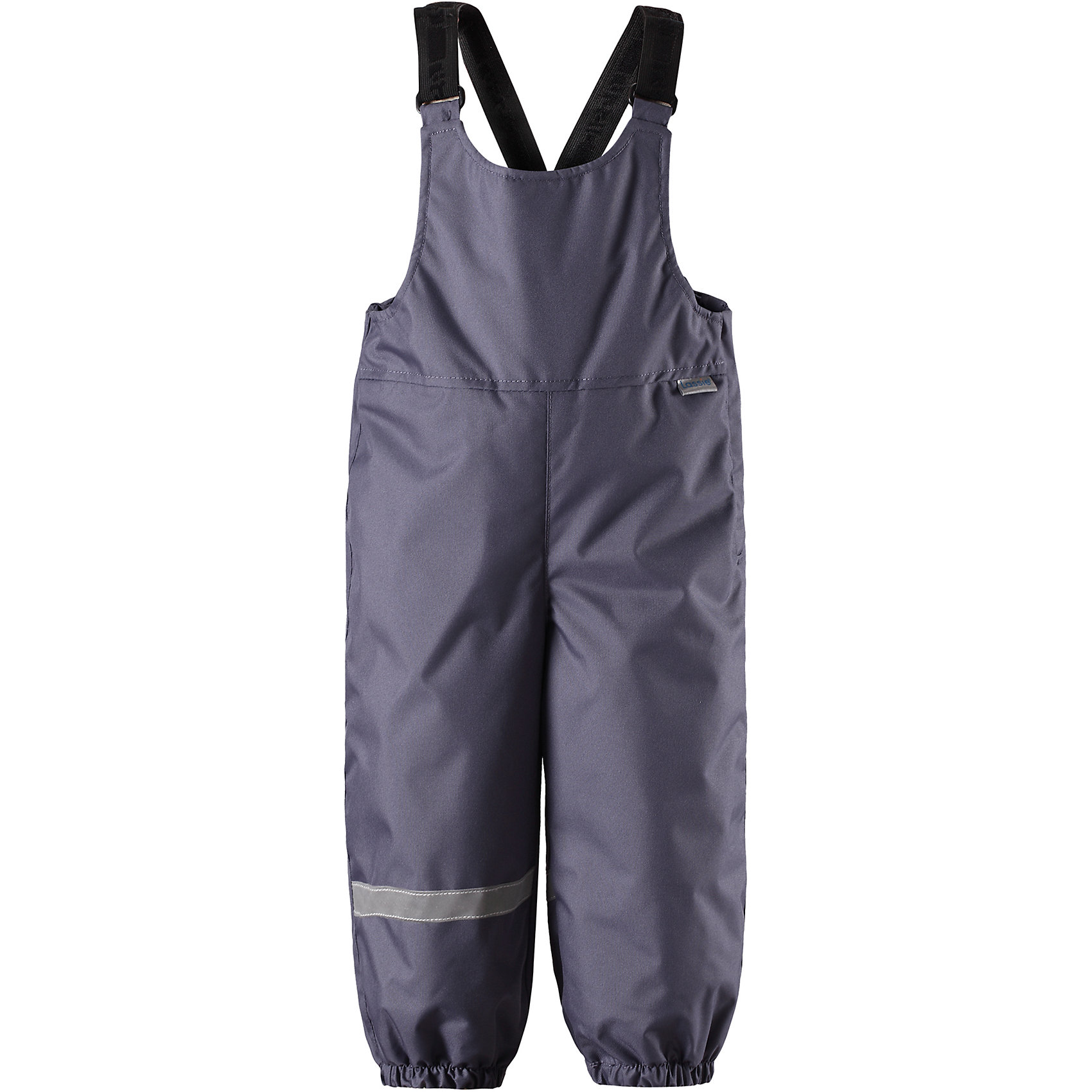 Брюки LassieВерхняя одежда<br>Характеристики товара:<br><br>• цвет: серый;<br>• состав: 100% полиэстер, полиуретановое покрытие;<br>• подкладка: 100% полиэстер;<br>• утеплитель: 140 г/м2;<br>• сезон: зима;<br>• температурный режим: от 0 до -20С;<br>• водонепроницаемость: 1000 мм;<br>• воздухопроницаемость: 2000 мм;<br>• износостойкость: 20000 циклов (тест Мартиндейла)<br>• застежка: молния сбоку;<br>• водоотталкивающий, ветронепроницаемый и дышащий материал;<br>• задний серединный шов проклеен;<br>• гладкая подкладка из полиэстера;<br>• эластичные штанины;<br>• регулируемые эластичные подтяжки;<br>• светоотражающие детали;<br>• страна бренда: Финляндия;<br>• страна изготовитель: Китай;<br><br>Теплые зимние брюки для малышей с регулируемыми подтяжками и съемными штрипками очень удобно сидят. Молния сбоку облегчает надевание, а флисовая подкладка на седалище обеспечивает дополнительное утепление. <br><br>Брюки Lassie (Ласси) можно купить в нашем интернет-магазине.<br><br>Ширина мм: 215<br>Глубина мм: 88<br>Высота мм: 191<br>Вес г: 336<br>Цвет: серый<br>Возраст от месяцев: 24<br>Возраст до месяцев: 36<br>Пол: Унисекс<br>Возраст: Детский<br>Размер: 98,74,80,86,92<br>SKU: 6905400
