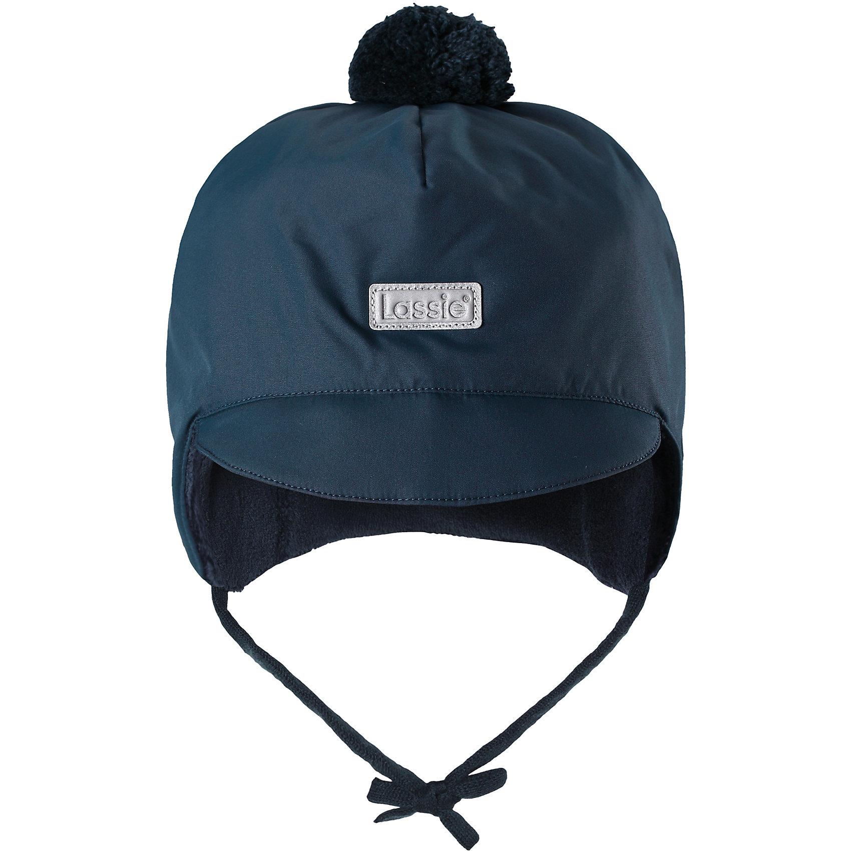 Шапка LassieШапки и шарфы<br>Готовы к веселым зимним прогулкам? Эта очень мягкая и теплая шапка для новорожденных – превосходный аксессуар для холодных зимних деньков. Ветронепроницаемые вставки в области ушей обеспечивают ушкам дополнительную защиту, а мягкая флисовая подкладка очень приятна на ощупь.<br>Состав:<br>100% Полиэстер<br><br>Ширина мм: 89<br>Глубина мм: 117<br>Высота мм: 44<br>Вес г: 155<br>Цвет: синий<br>Возраст от месяцев: 36<br>Возраст до месяцев: 72<br>Пол: Унисекс<br>Возраст: Детский<br>Размер: 42-44,44-46,46-48,50-52<br>SKU: 6905535