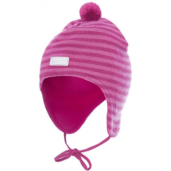 Шапка LassieШапки и шарфы<br>Характеристики товара:<br><br>• цвет: розовый;<br>• состав: 50% шерсть, 50% полиакрил; <br>• подкладка: 100% полиэстер, флис;<br>• сезон: зима;<br>• без дополнительного утепления;<br>• температурный режим: от 0 до -20С;<br>• мягкая и теплая ткань из смеси шерсти;<br>• ветронепроницаемые вставки в области ушей;<br>• сплошная подкладка: мягкий теплый флис;<br>• шапка на завязках, помпон сверху;<br>• светоотражающие детали;<br>• страна бренда: Финляндия;<br>• страна изготовитель: Китай;<br><br>Красивая полосатая шапка для малышей незаменима в холодные зимние дни! Гладкая флисовая подкладка очень приятна на ощупь и обеспечивает дополнительное утепление. Ветронепроницаемые вставки в области ушей защищают ушки от холодного ветра.<br><br>Шапку Lassie (Ласси) можно купить в нашем интернет-магазине.<br>Ширина мм: 89; Глубина мм: 117; Высота мм: 44; Вес г: 155; Цвет: розовый; Возраст от месяцев: 9; Возраст до месяцев: 12; Пол: Женский; Возраст: Детский; Размер: 44-46,46-48,50-52,42-44; SKU: 6905565;