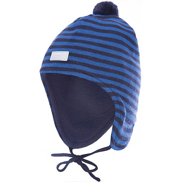 Шапка LassieШапки и шарфы<br>Характеристики товара:<br><br>• цвет: синий;<br>• состав: 50% шерсть, 50% полиакрил; <br>• подкладка: 100% полиэстер, флис;<br>• сезон: зима;<br>• без дополнительного утепления;<br>• температурный режим: от 0 до -20С;<br>• мягкая и теплая ткань из смеси шерсти;<br>• ветронепроницаемые вставки в области ушей;<br>• сплошная подкладка: мягкий теплый флис;<br>• шапка на завязках, помпон сверху;<br>• светоотражающие детали;<br>• страна бренда: Финляндия;<br>• страна изготовитель: Китай;<br><br>Красивая полосатая шапка для малышей незаменима в холодные зимние дни! Гладкая флисовая подкладка очень приятна на ощупь и обеспечивает дополнительное утепление. Ветронепроницаемые вставки в области ушей защищают ушки от холодного ветра.<br><br>Шапку Lassie (Ласси) можно купить в нашем интернет-магазине.<br>Ширина мм: 89; Глубина мм: 117; Высота мм: 44; Вес г: 155; Цвет: синий; Возраст от месяцев: 6; Возраст до месяцев: 9; Пол: Мужской; Возраст: Детский; Размер: 42-44,50-52,46-48,44-46; SKU: 6905570;